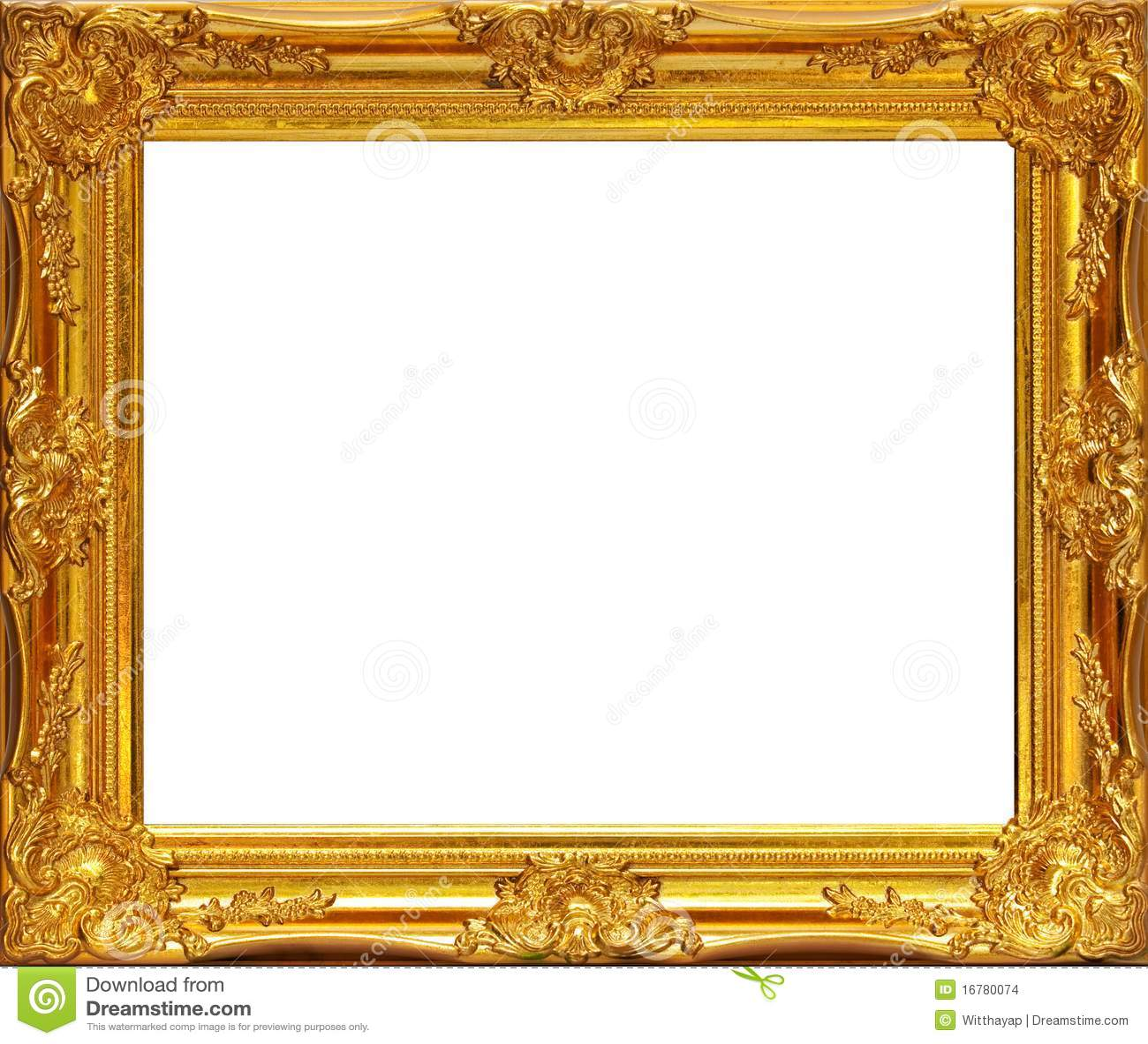 Gold Frame Stock Images Image 16780074