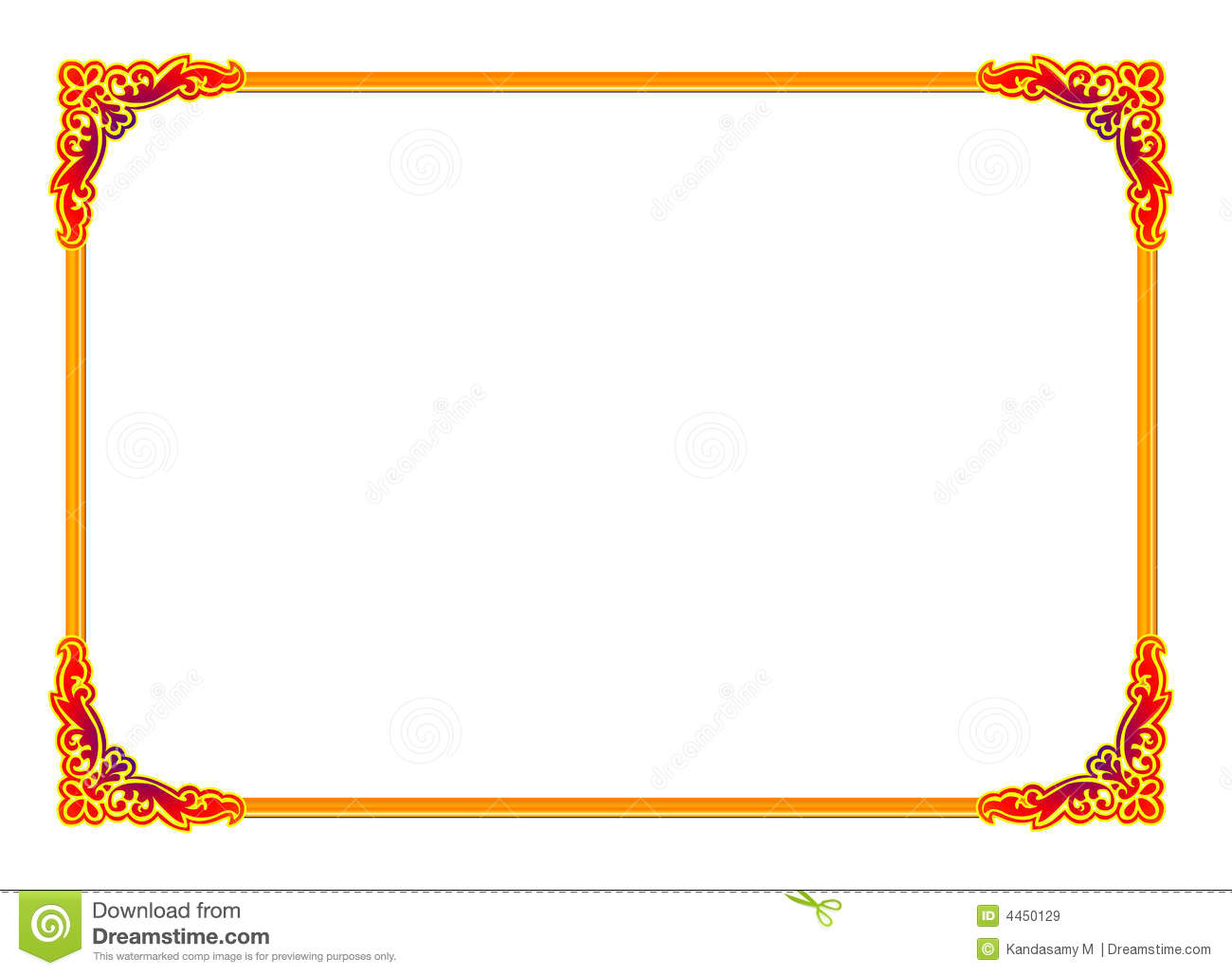 Royalty Free Stock Images Gold Frame Image4450129 on Blue Border Clip Art