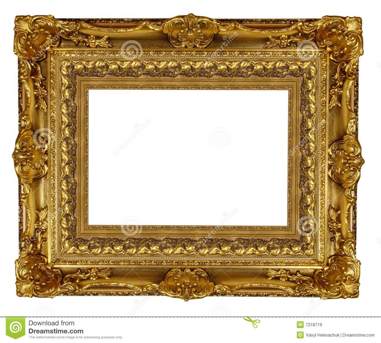 Gold Frame Royalty Free Stock Images Image 7218719