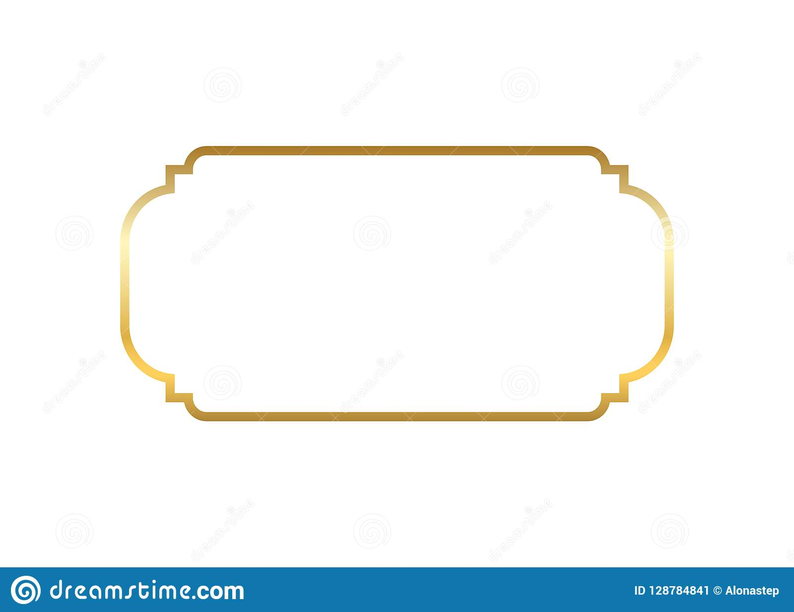 Gold Frame  Beautiful Simple Golden Design  Vintage Style