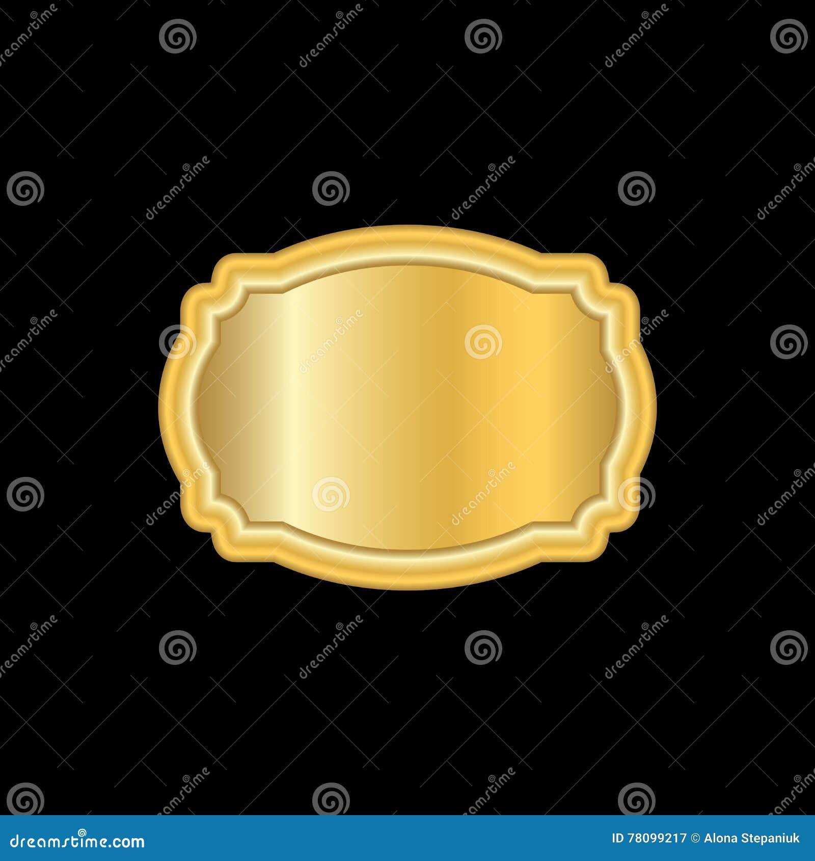 Gold Frame. Beautiful Simple Golden Design White Stock Vector ...