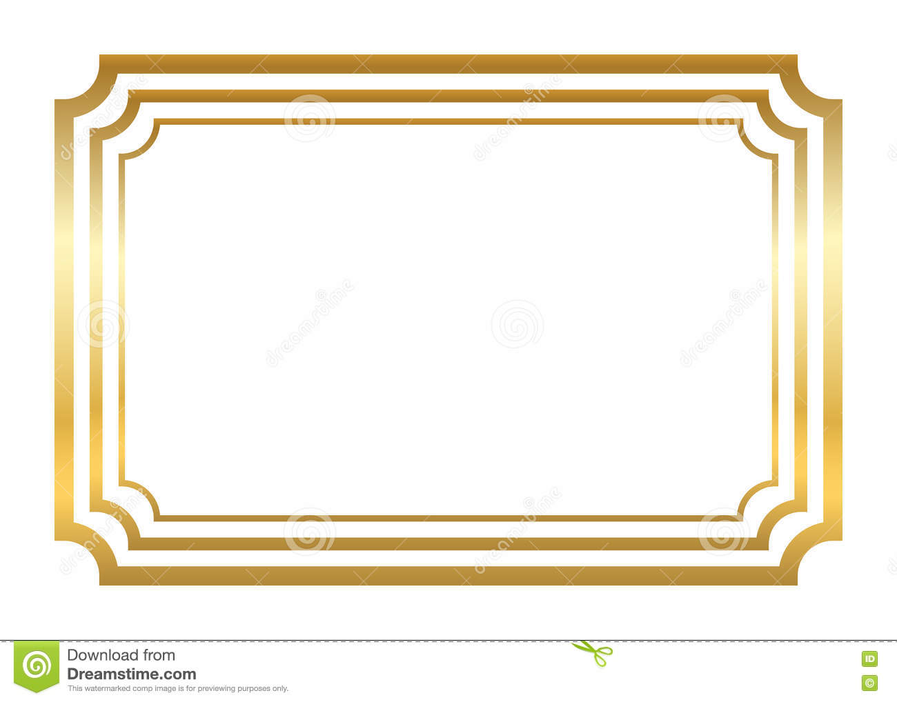 12436b41435 Gold frame. Beautiful simple golden design. Vintage style decorative  border