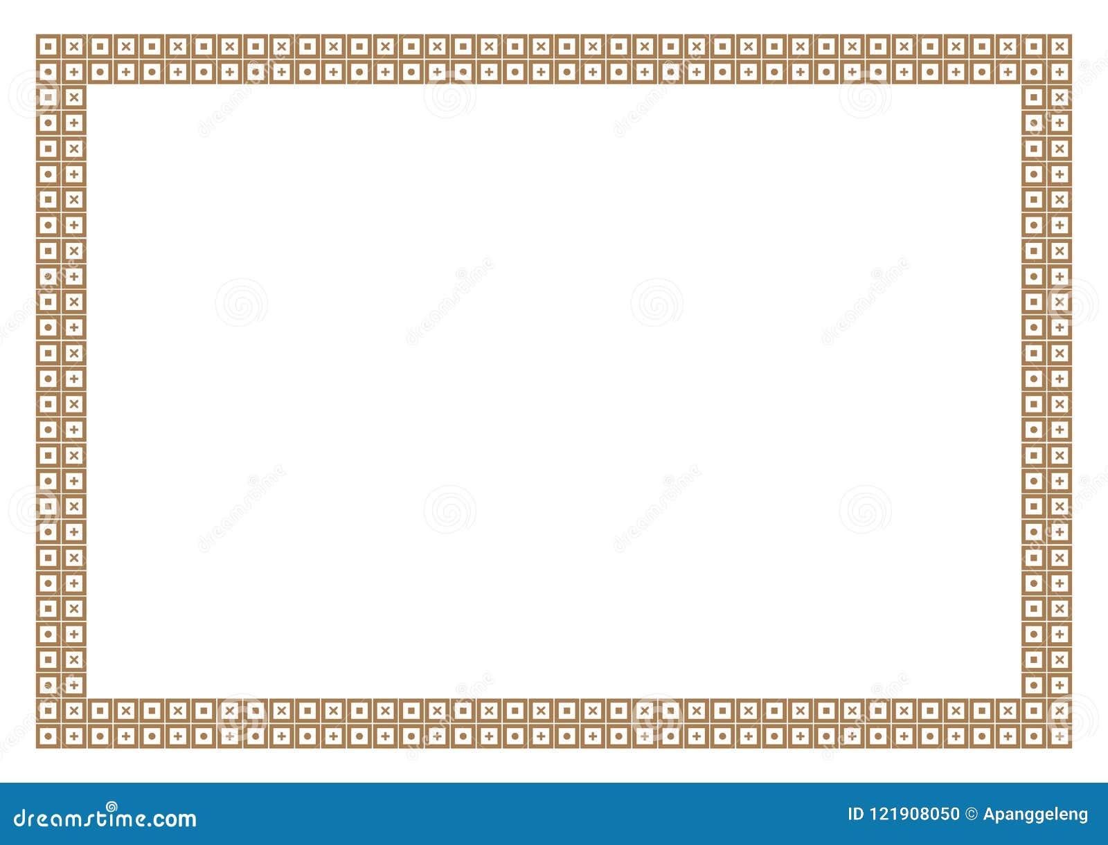 gold frame border square. Gold Frame \u0026 Border Math Style With Square Pattern Gold Frame Border E
