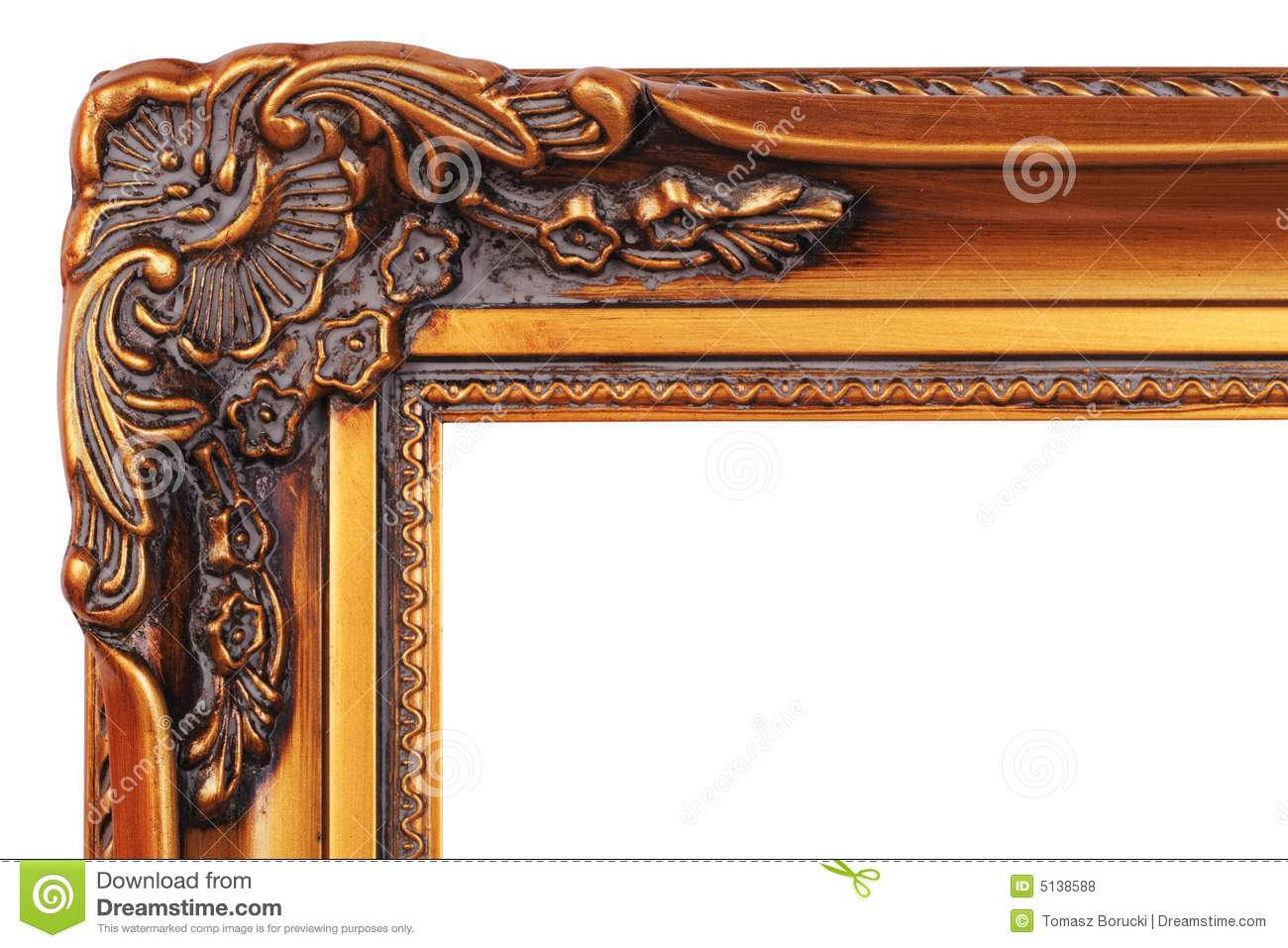 Gold frame corner stock photo image of background for Picture frame corners