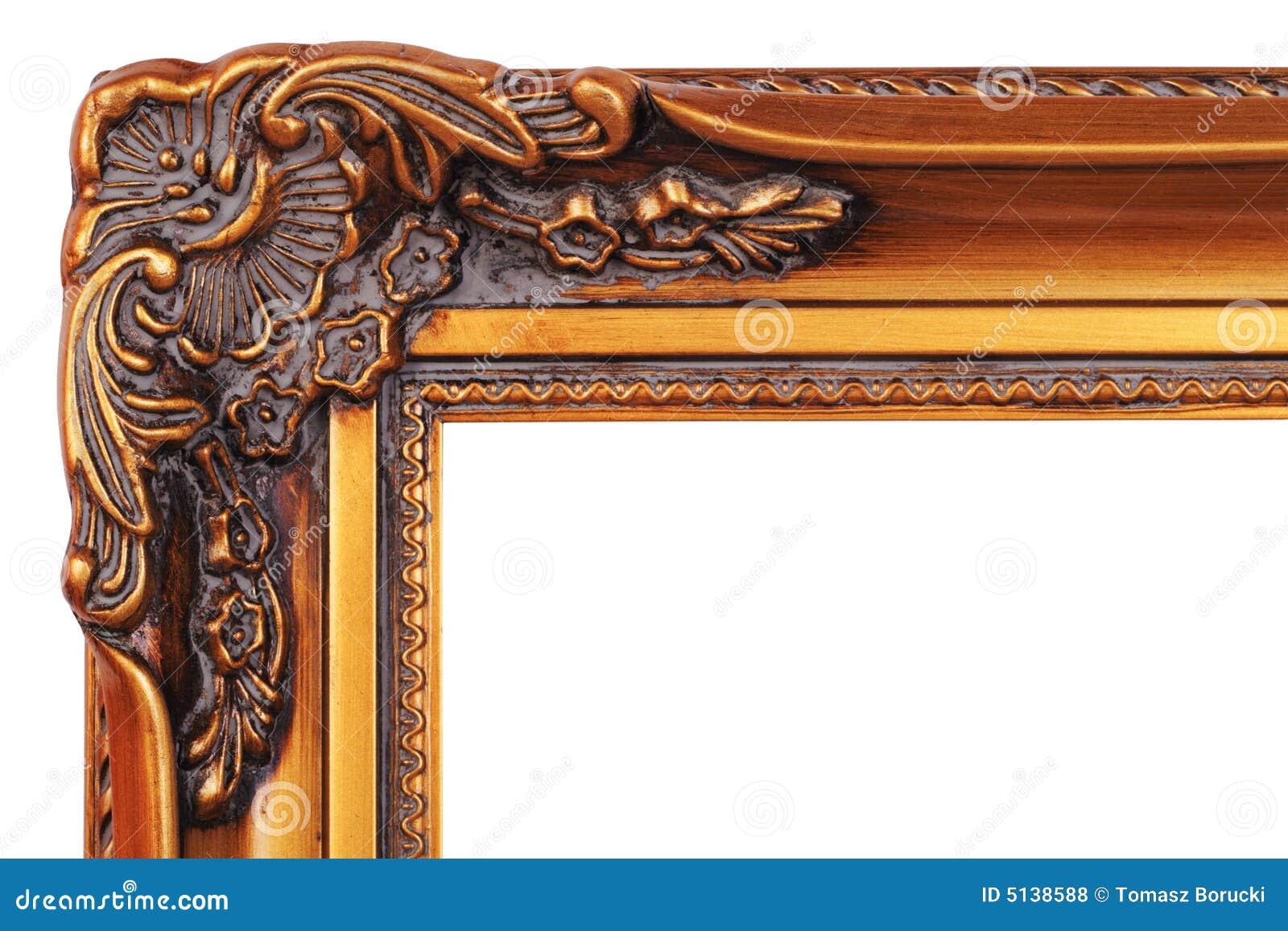 Gold Frame Corner Stock Photo Image Of Background