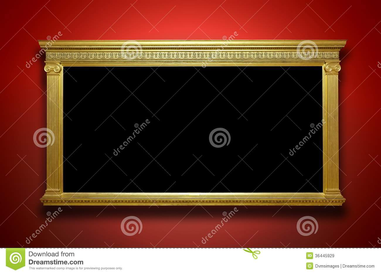 Gold Frame on Gallery Wall