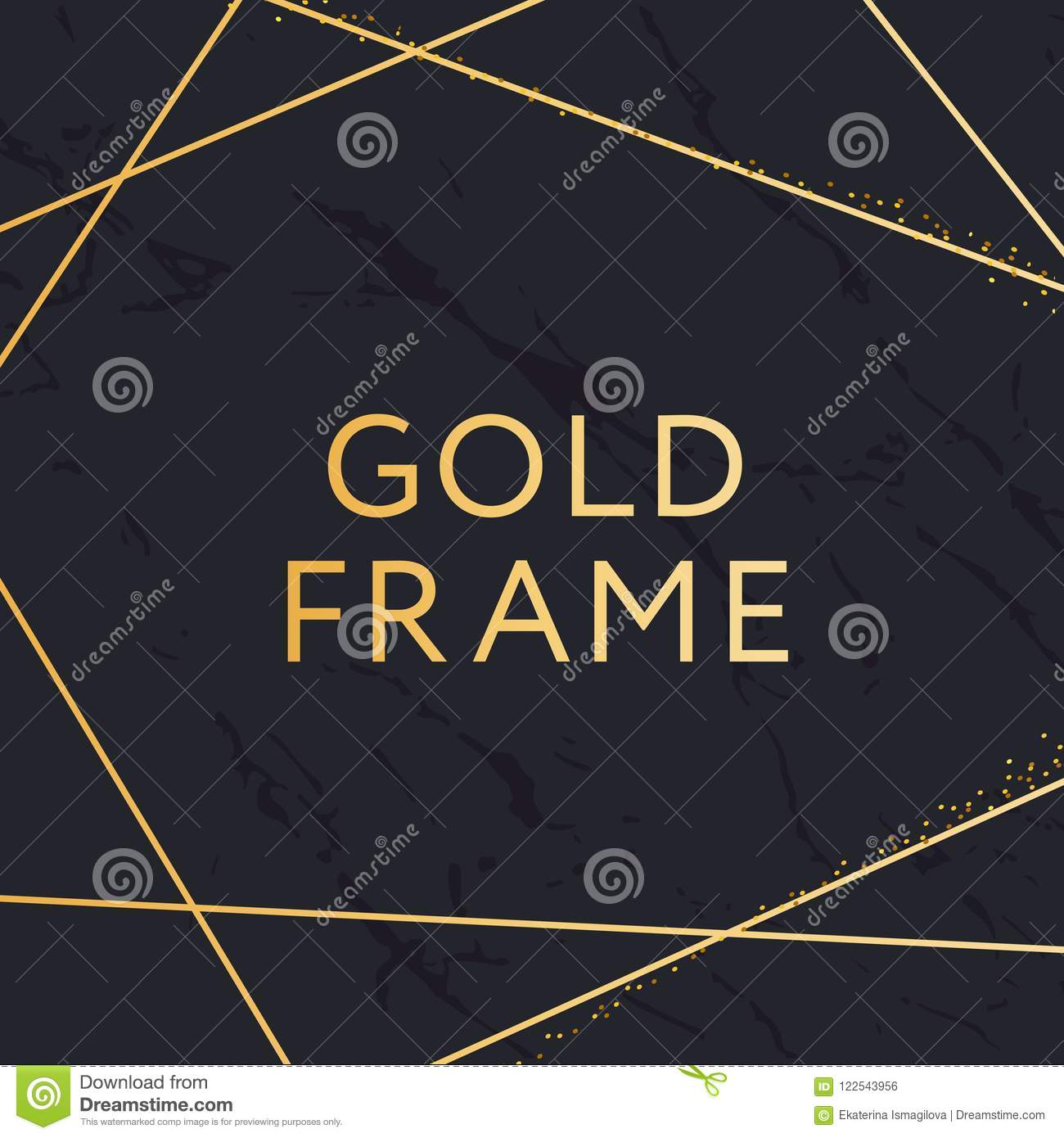 492b3af38b8 Gold Frame Geometric Shape Minimalism Vector Design Banner Golden. More  similar stock illustrations