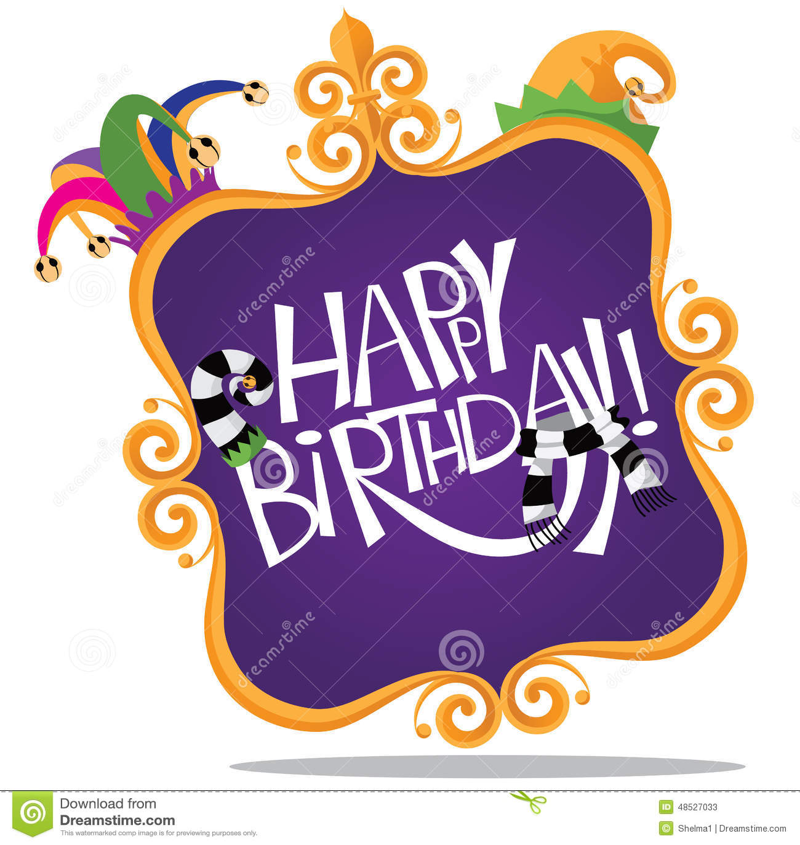 Gold Frame Happy Birthday Design Stock Vector - Illustration of ...