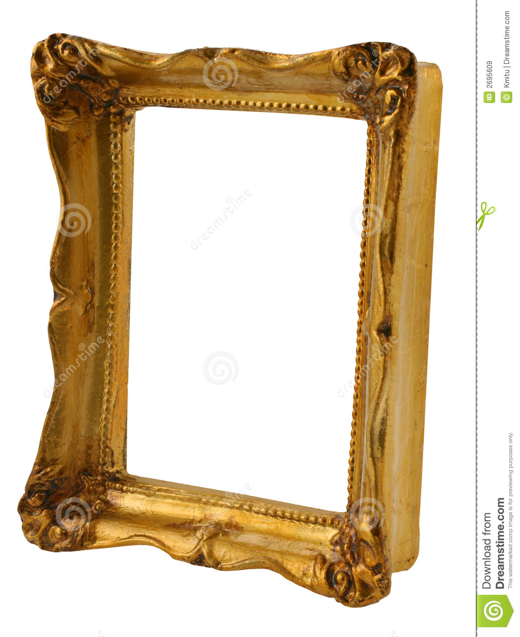 Gold frame from perspective
