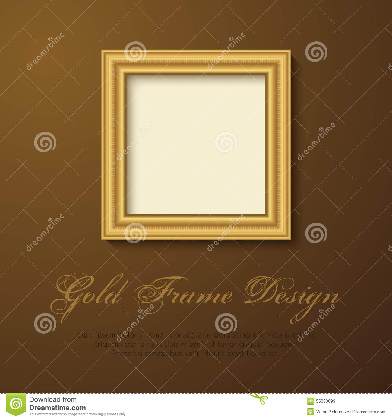 Gold Frame for text, picture, photo or your design