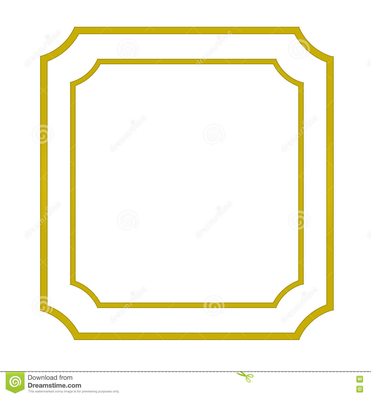 97f7b67a5b3e Vintage blank gold frame isolated on white background