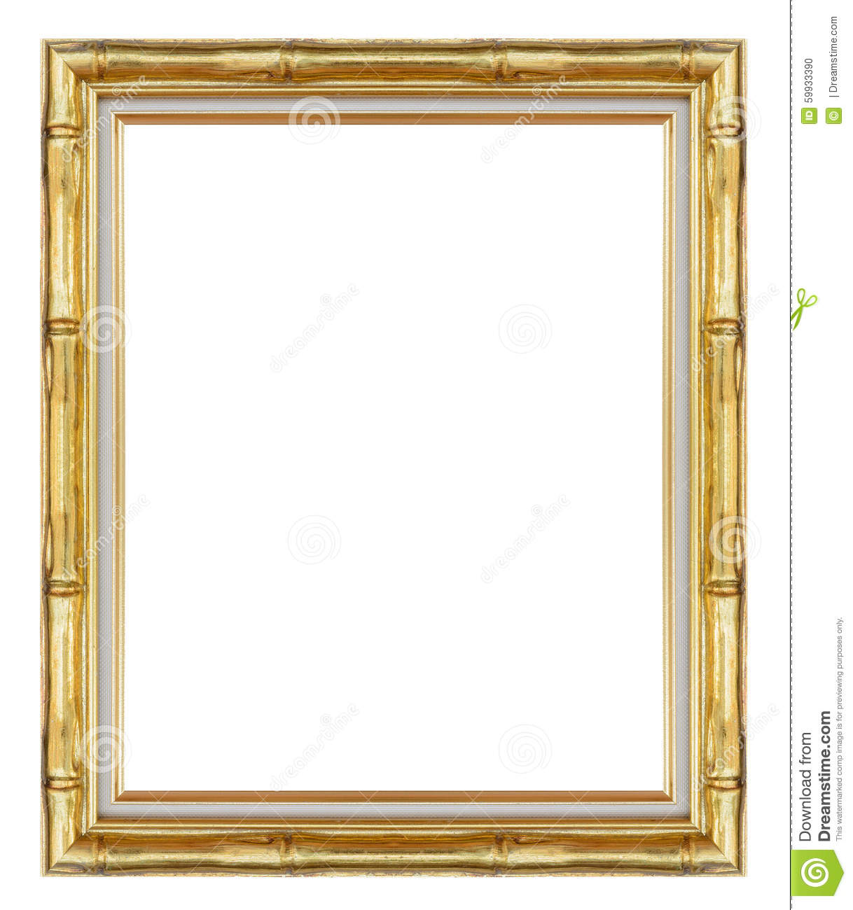 Gold Frame,wooden Frame For Painting Or Picture On White Background ...