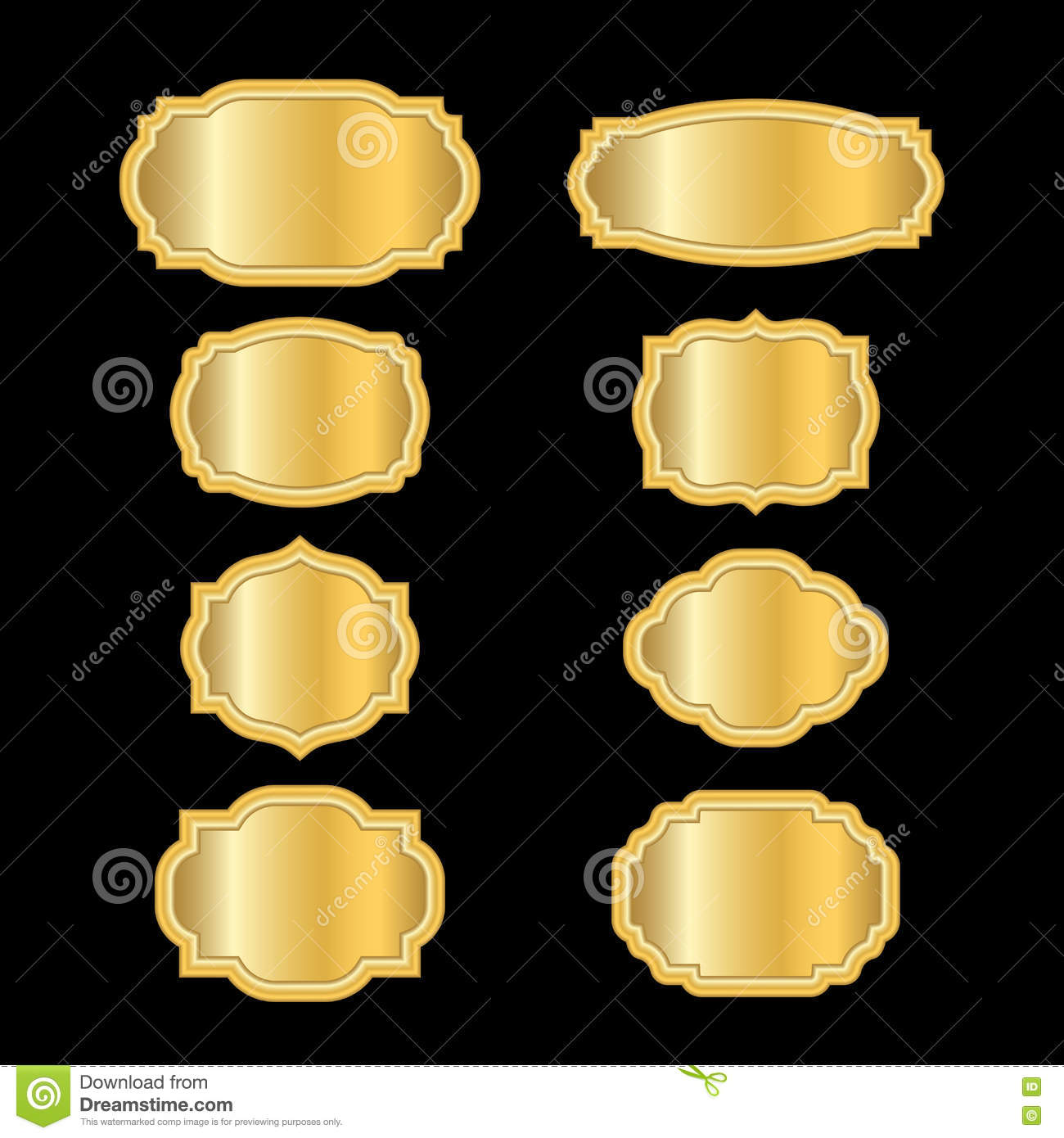 07eca93008c Gold frames simple style stock illustration of golden jpg 1300x1390 Beautiful  gold frames