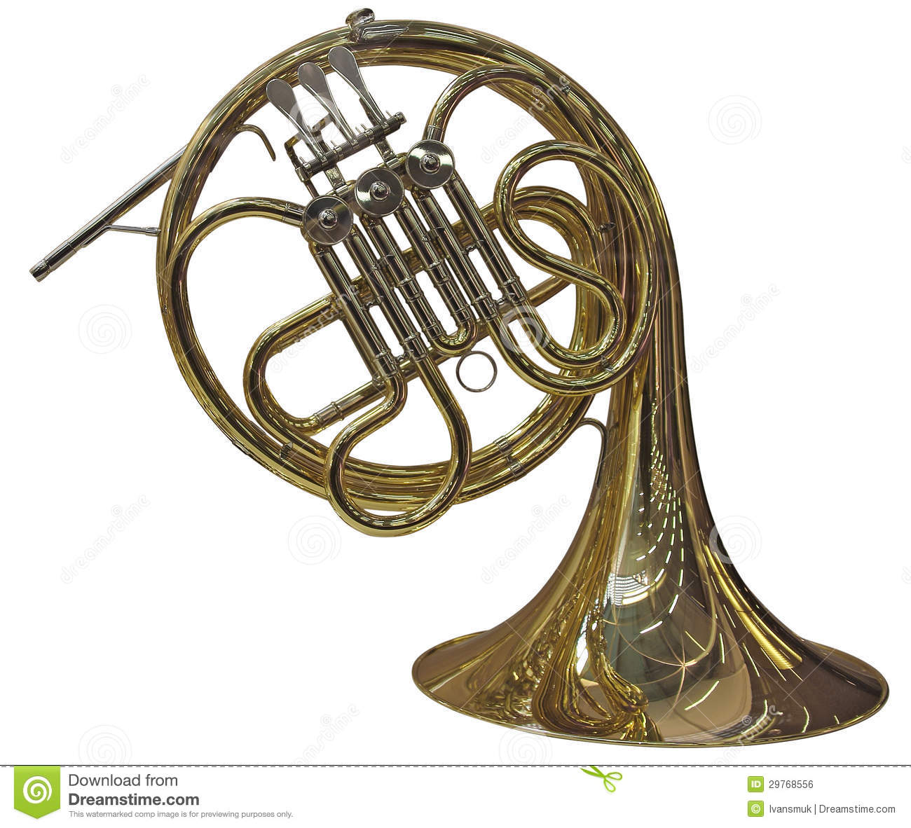French Horn Royalty Free Stock Image - Image: 29768556