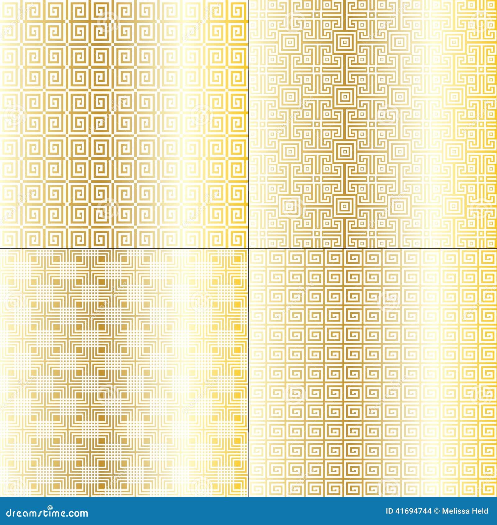 Gold Fretwork Patterns