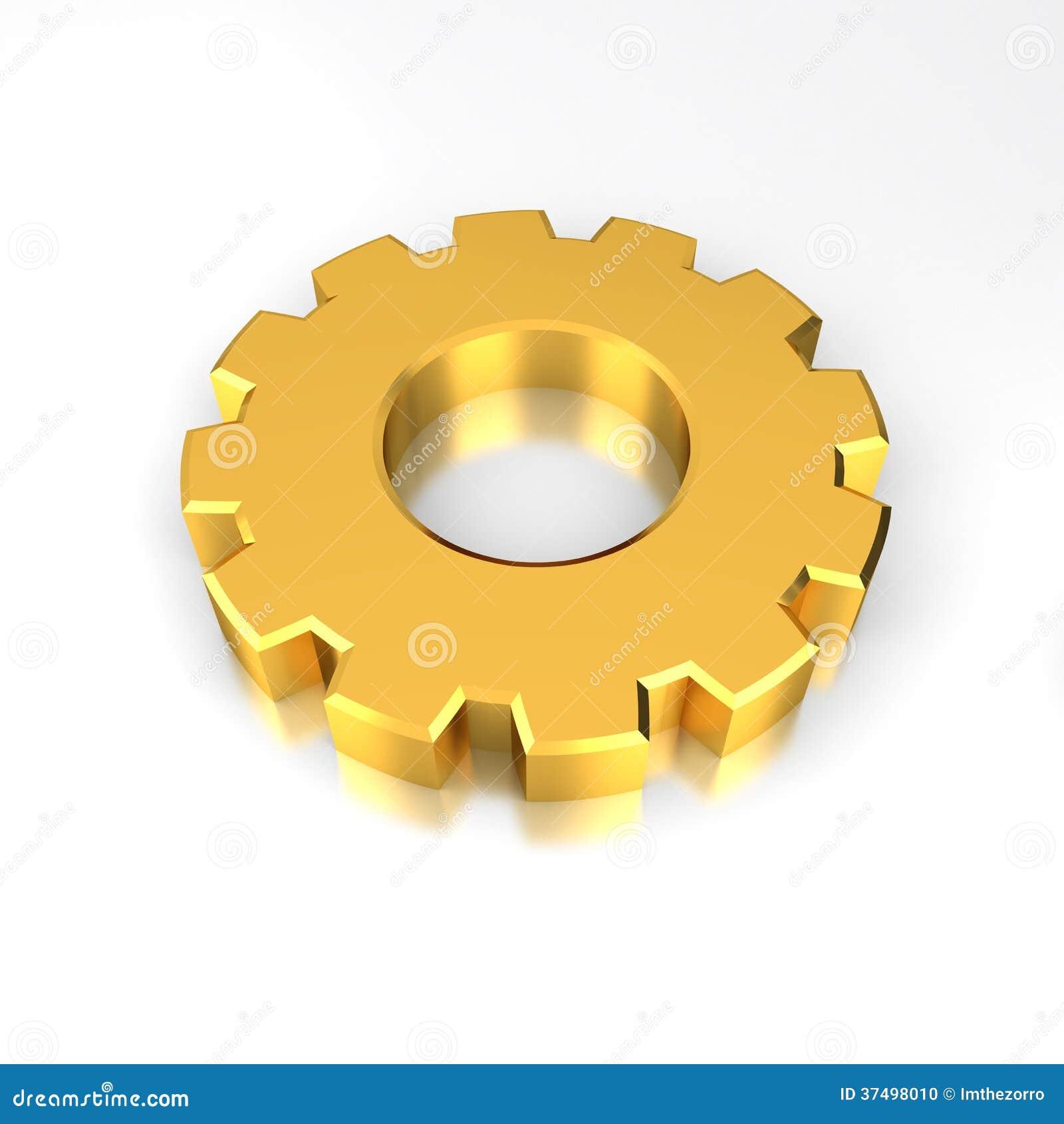 gold gear stock illustration image of equipment wheel