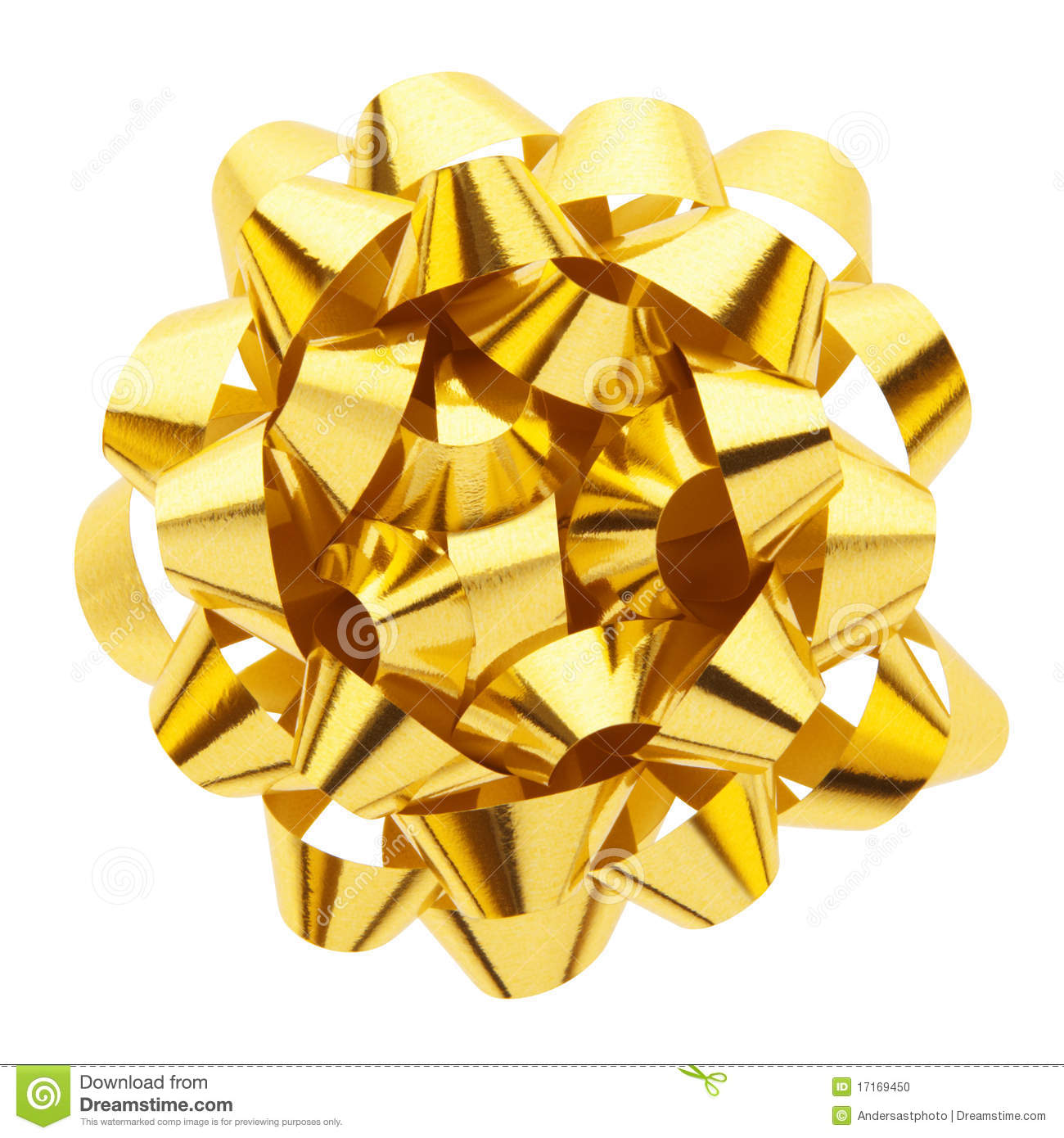 gold gift bow stock photo image of golden present above 17169450