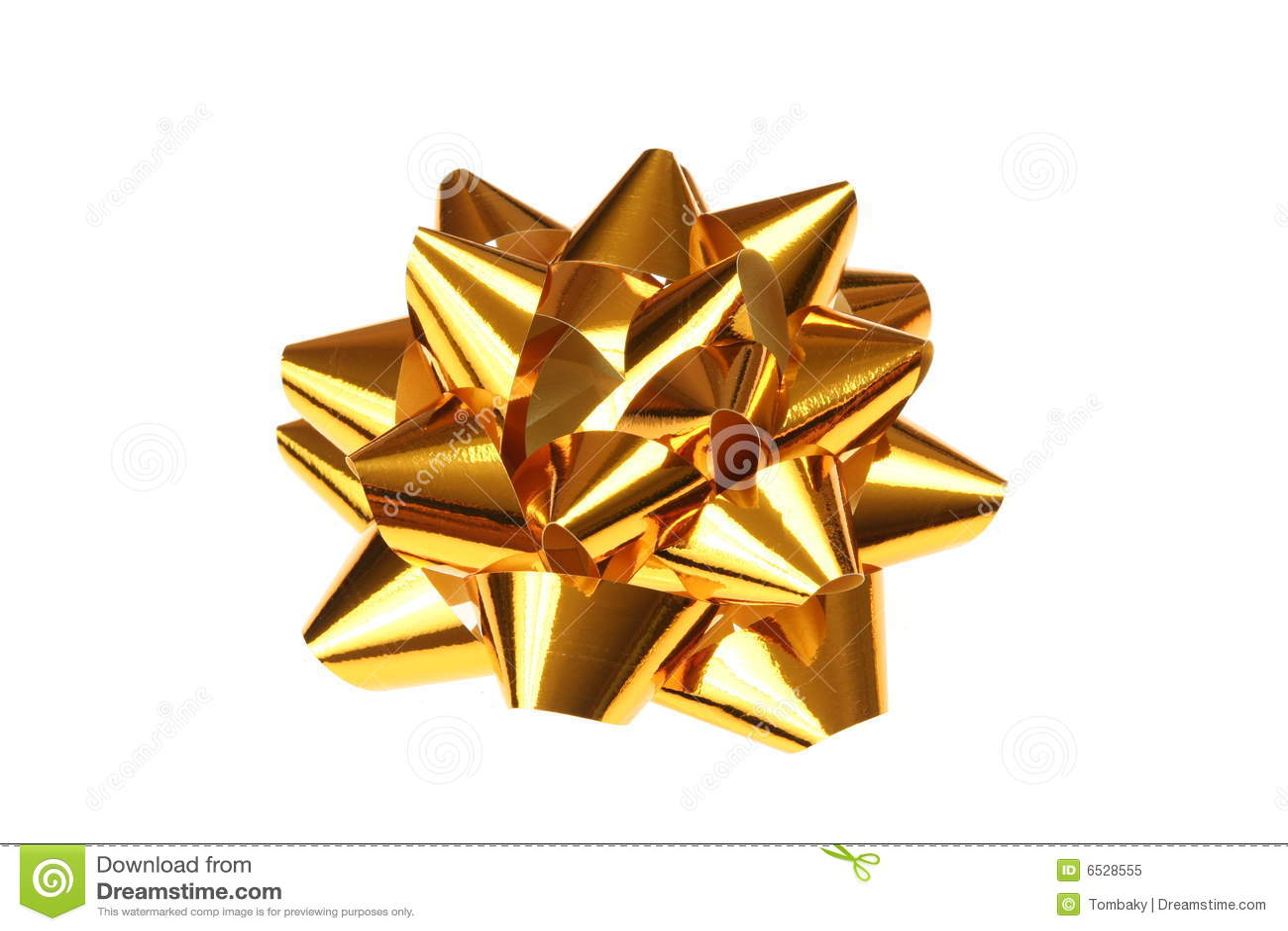 gold gift bow stock illustration illustration of decoration 6528555