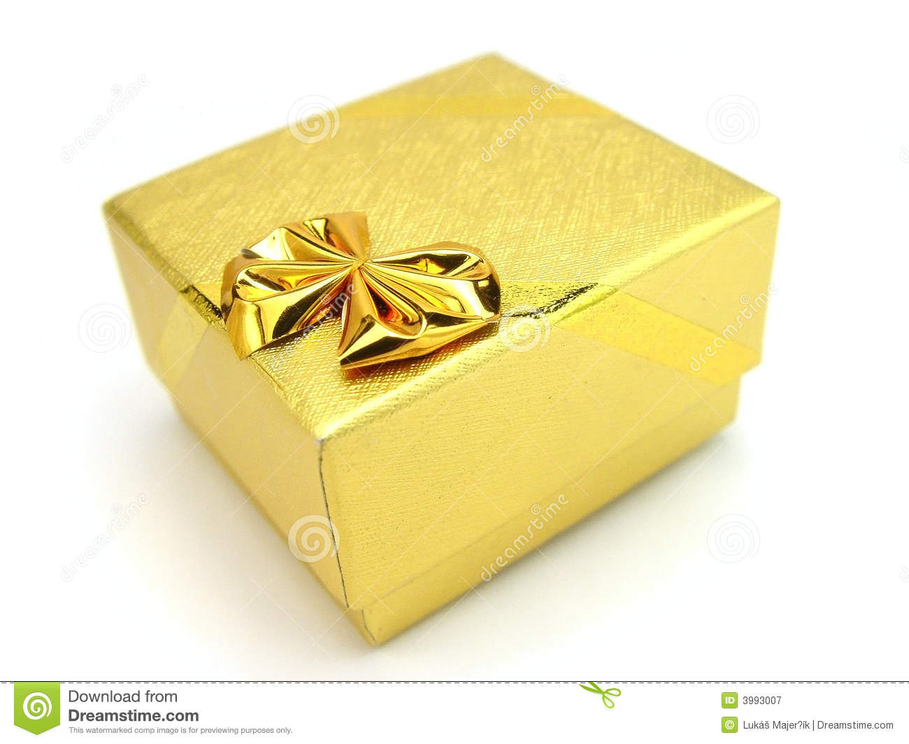Gold Gift Box Stock Image Image Of Gold Mother Birthday 3993007