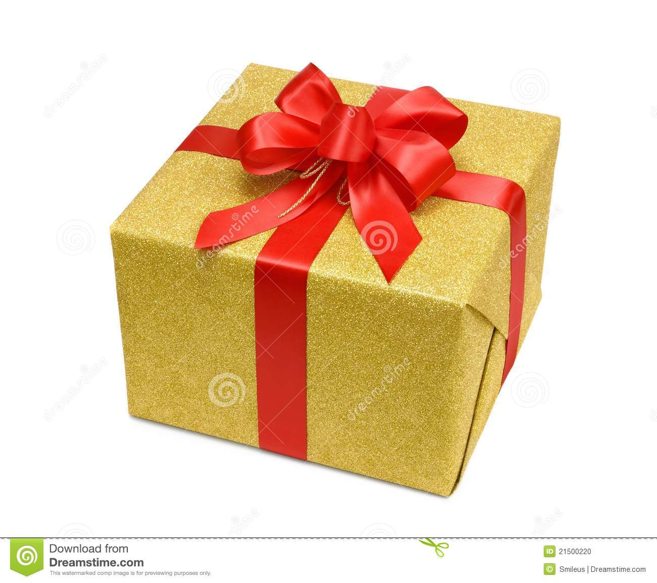Red gift box with smart gold bow royalty free stock image image gold gift box with smart red bow stock photo negle Choice Image