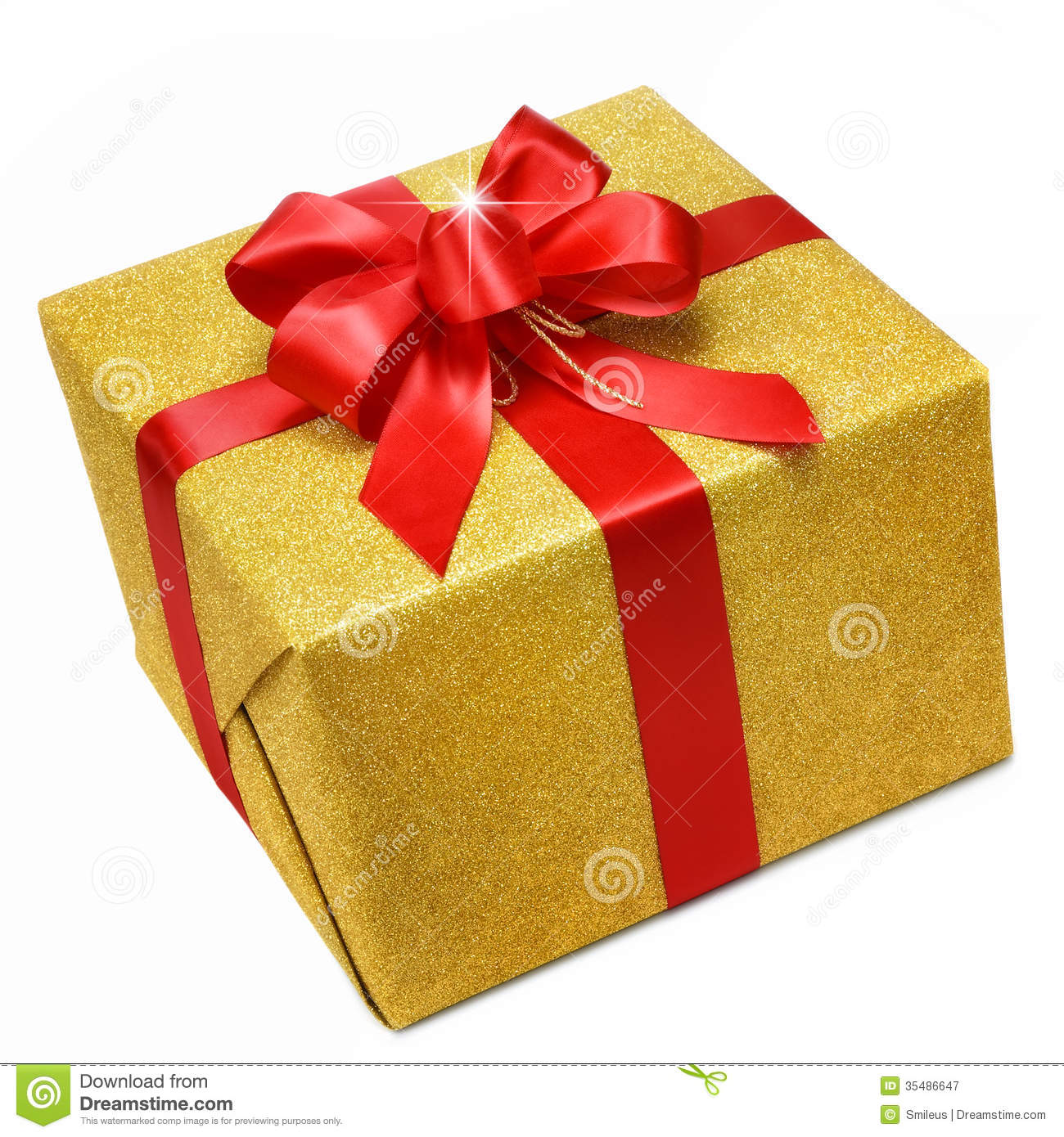 Gift box stock photos royalty free images dreamstime gold gift box with smart red bow glittering gold gift box on white background with negle Choice Image