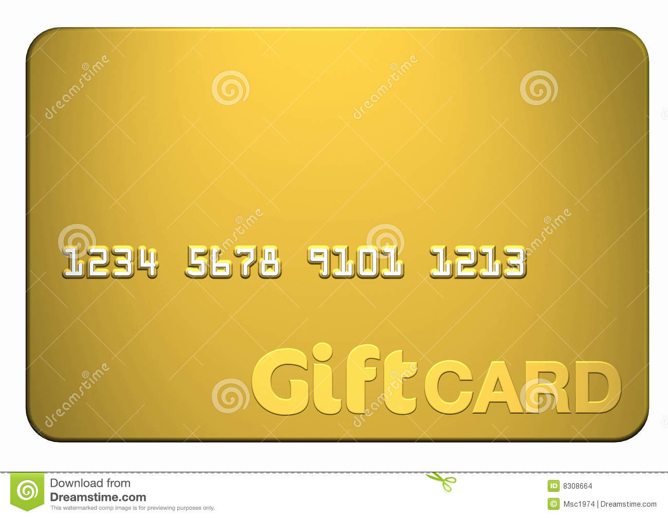 Gold Gift Card Stock Images Image 8308664