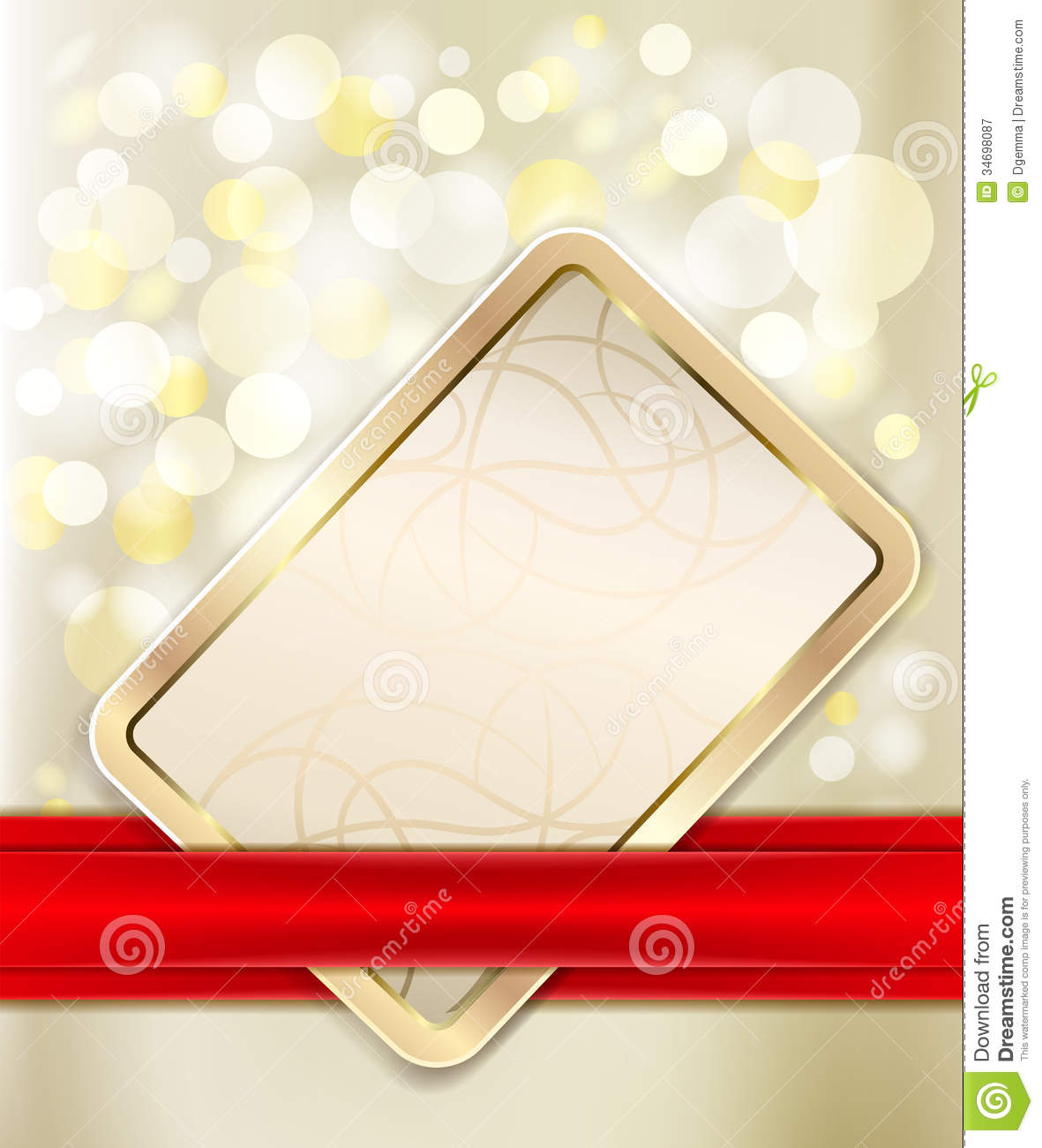 Gold Gift Card Royalty Free Stock Photography - Image: 34698087