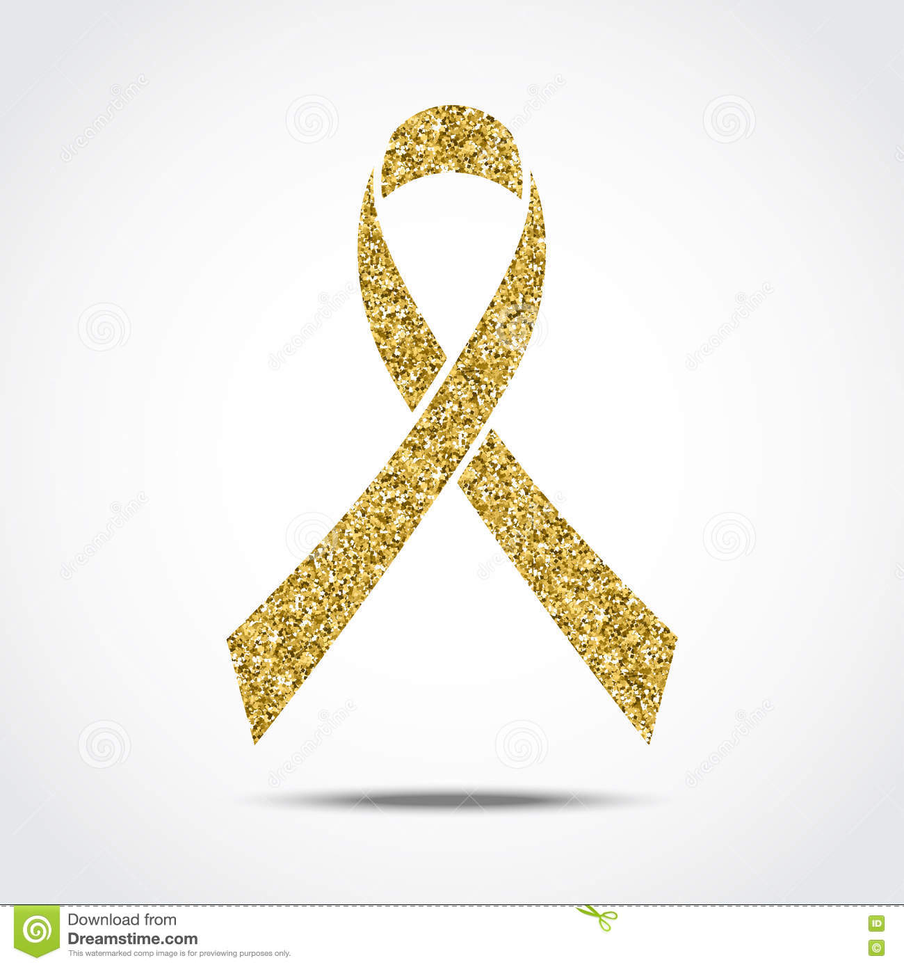 gold glitter awareness ribbon symbol of childhood cancer Childhood Cancer Wallpaper Yellow and Pink Cancer Ribbon