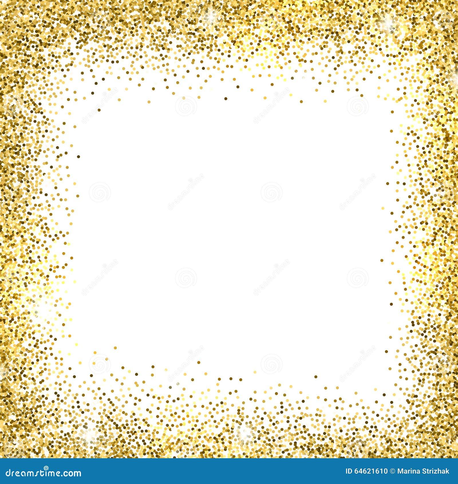 Gold Glitter Background Stock Vector Image 64621610