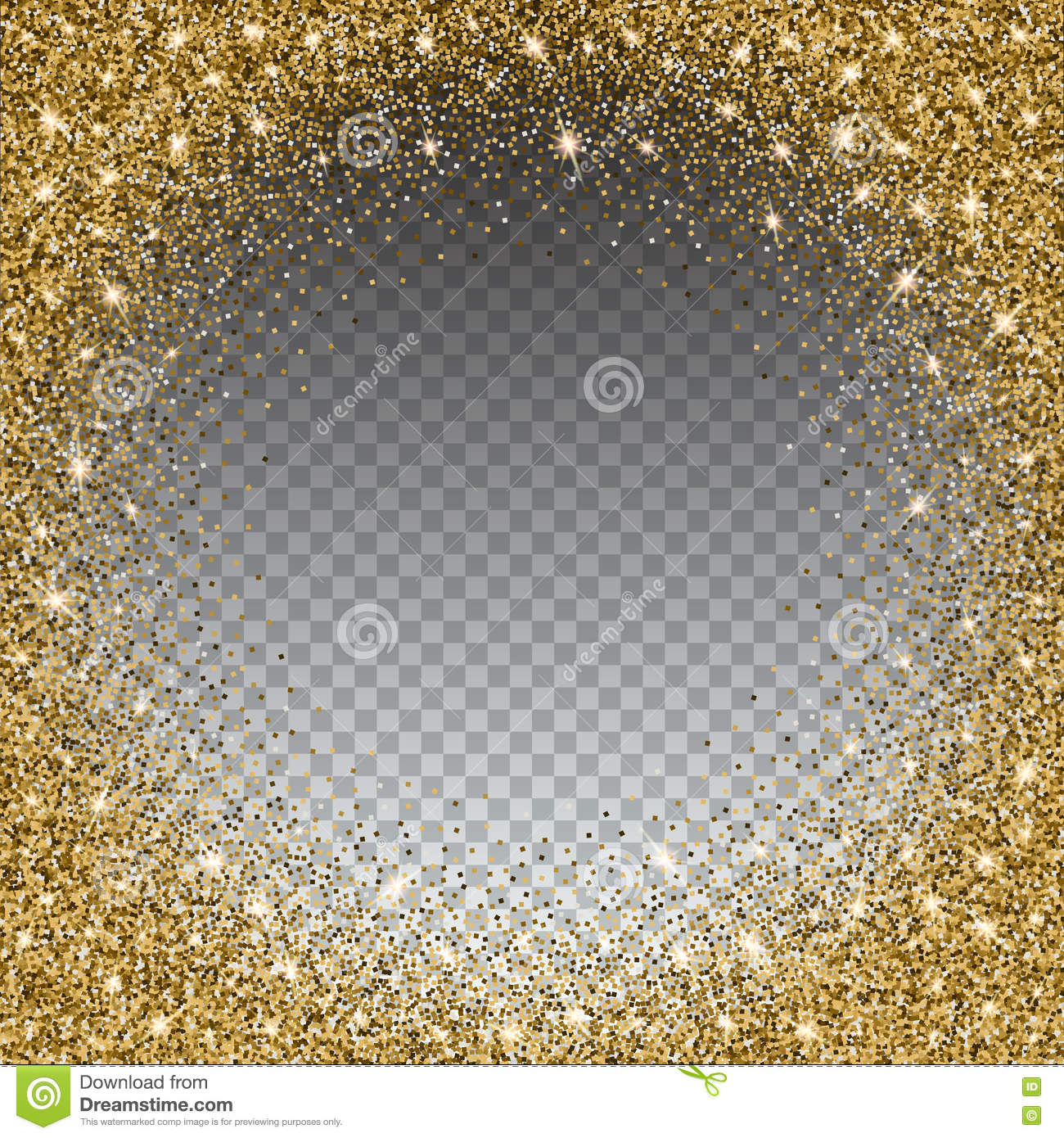 Gold glitter bright vector transparent background golden sparkles - Gold Glitter And Bright Sand Transparent Background