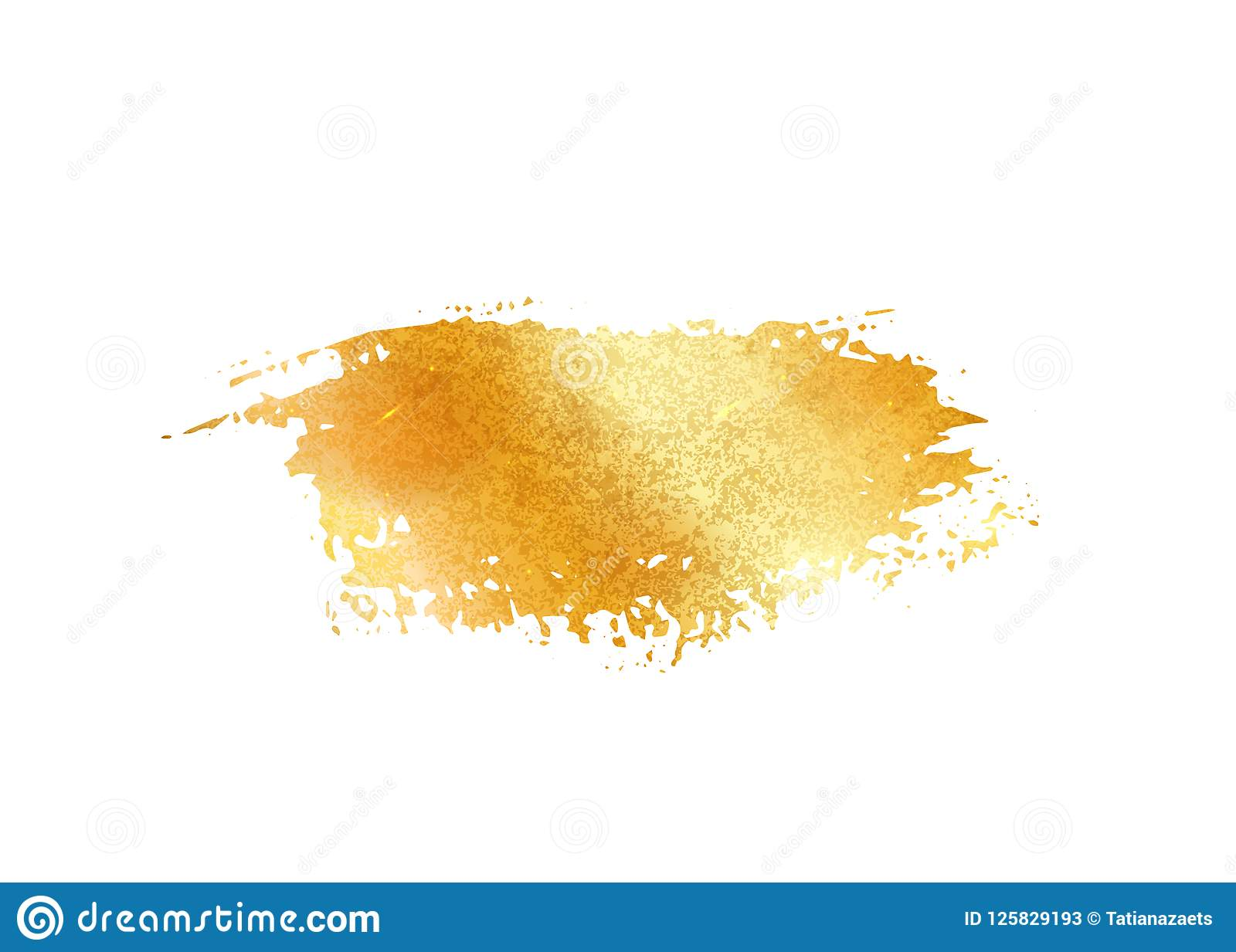 a49d95970631 Royalty-Free Vector. Gold glitter foil brush stroke vector. Golden paint  smear background isolated on white. Glow