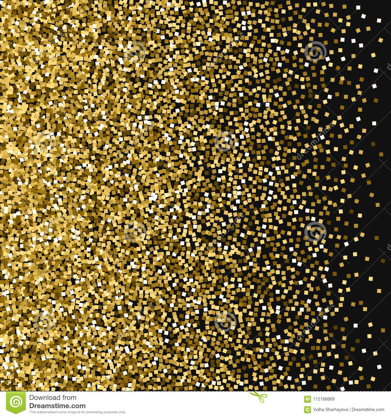 ba95a64e8ba Left gradient with gold glitter on black background. Majestic Vector  illustration.