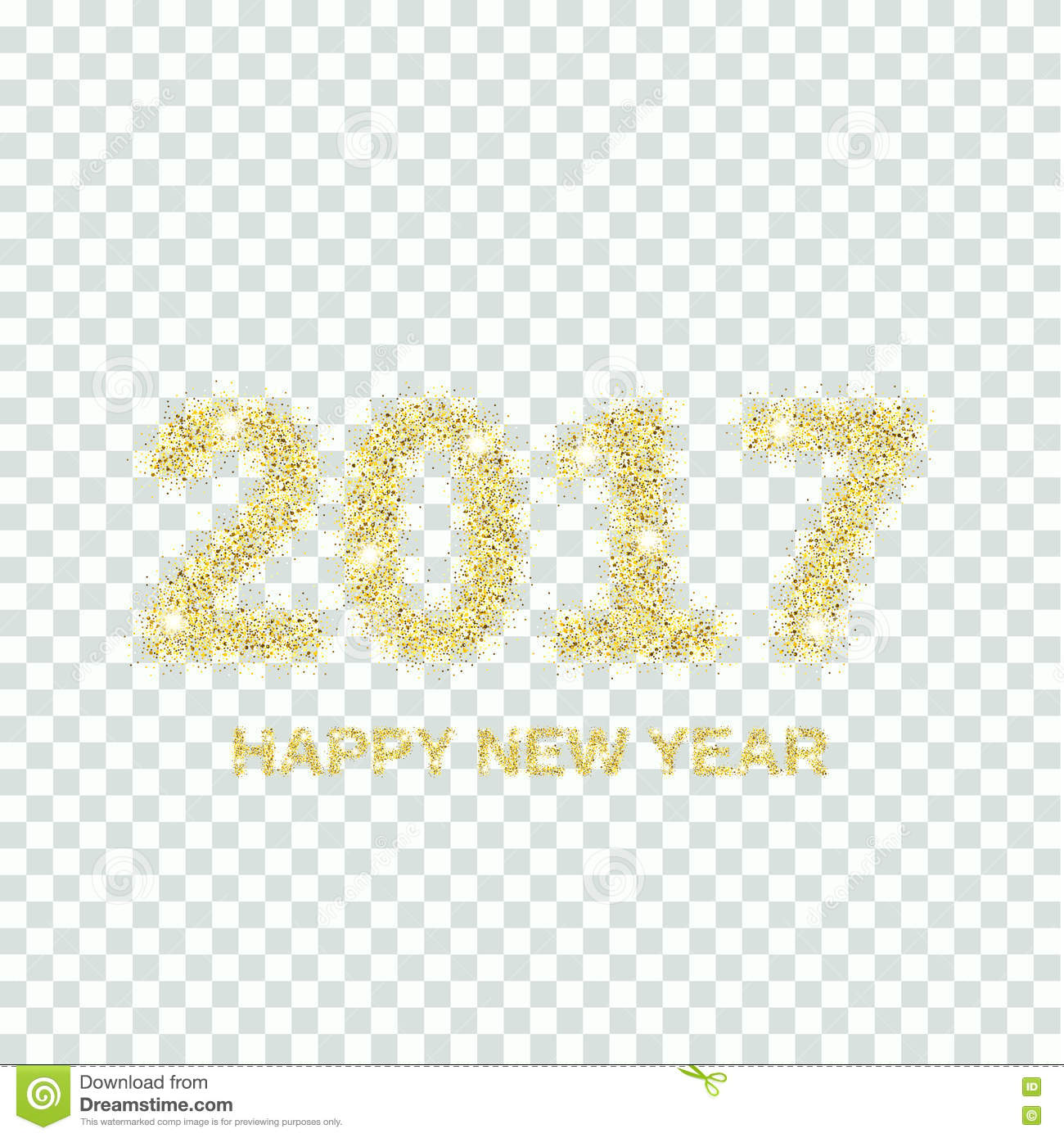 gold glitter happy new year 2017