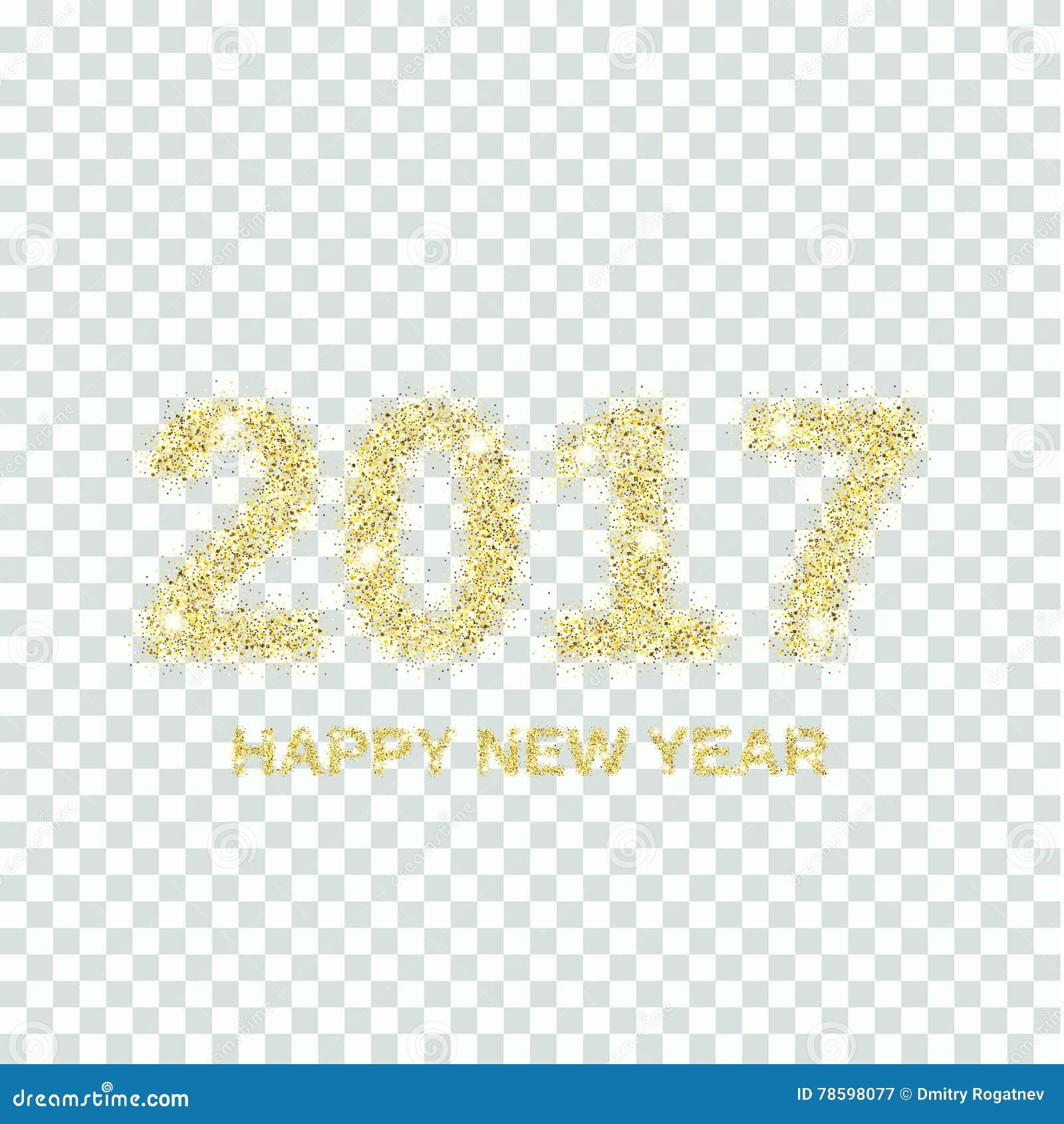 gold glitter happy new year 2017