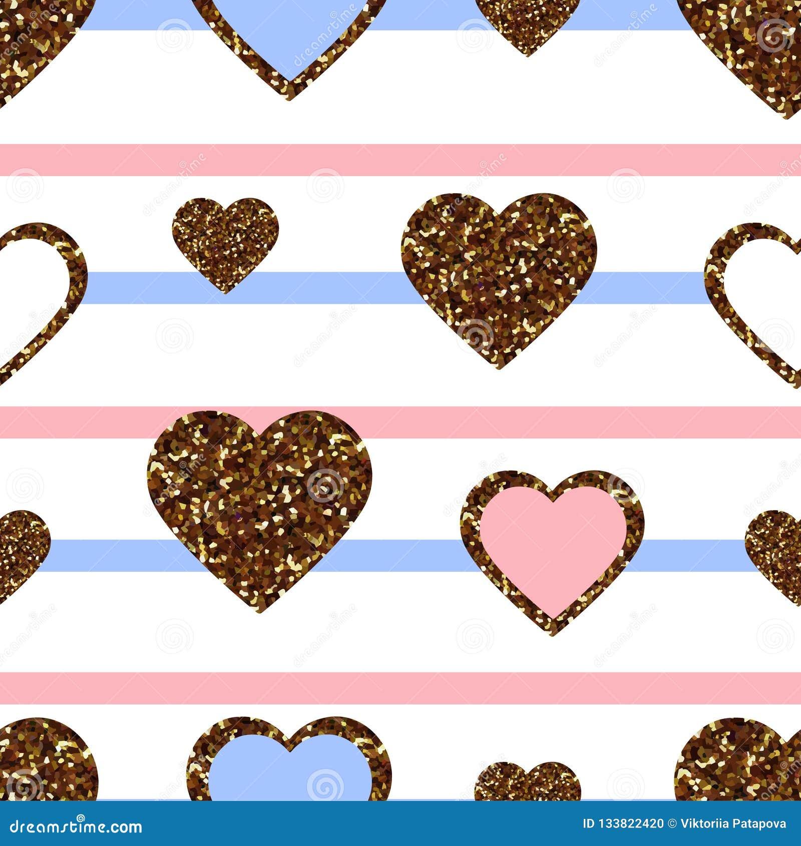 gold glitter heart seamless pattern symbol love valentine day holiday design wallpaper background fabric texture gold glitter 133822420