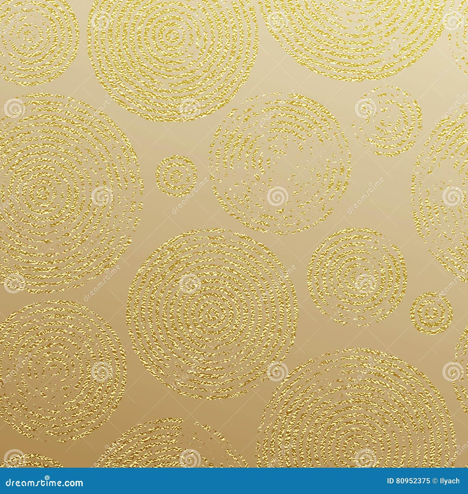 Gold Glitter Rings Luxury Seamless Pattern Wallpaper Stock