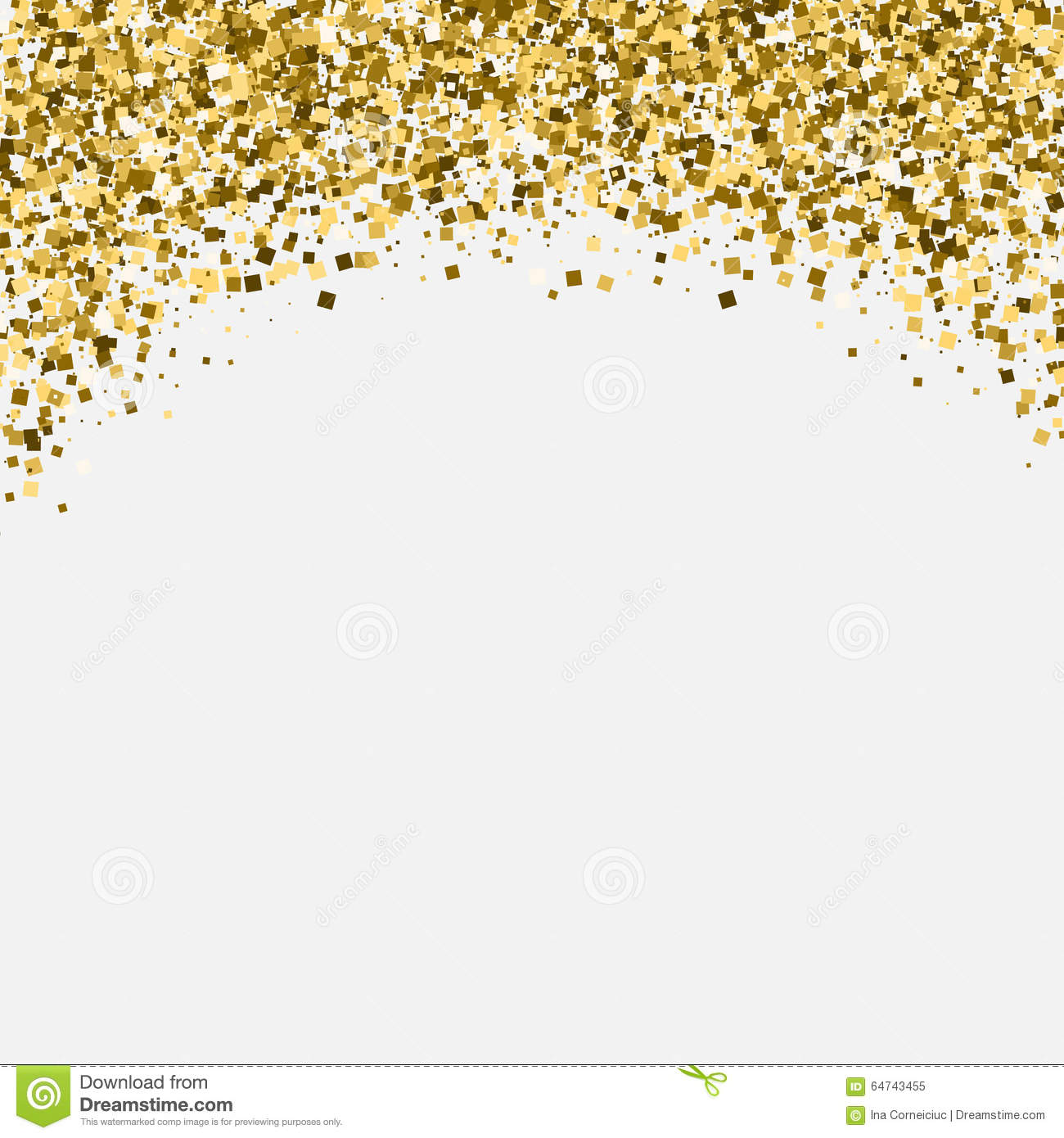 Gold Glitter Shimmery Heading Invitation Card Or Stock