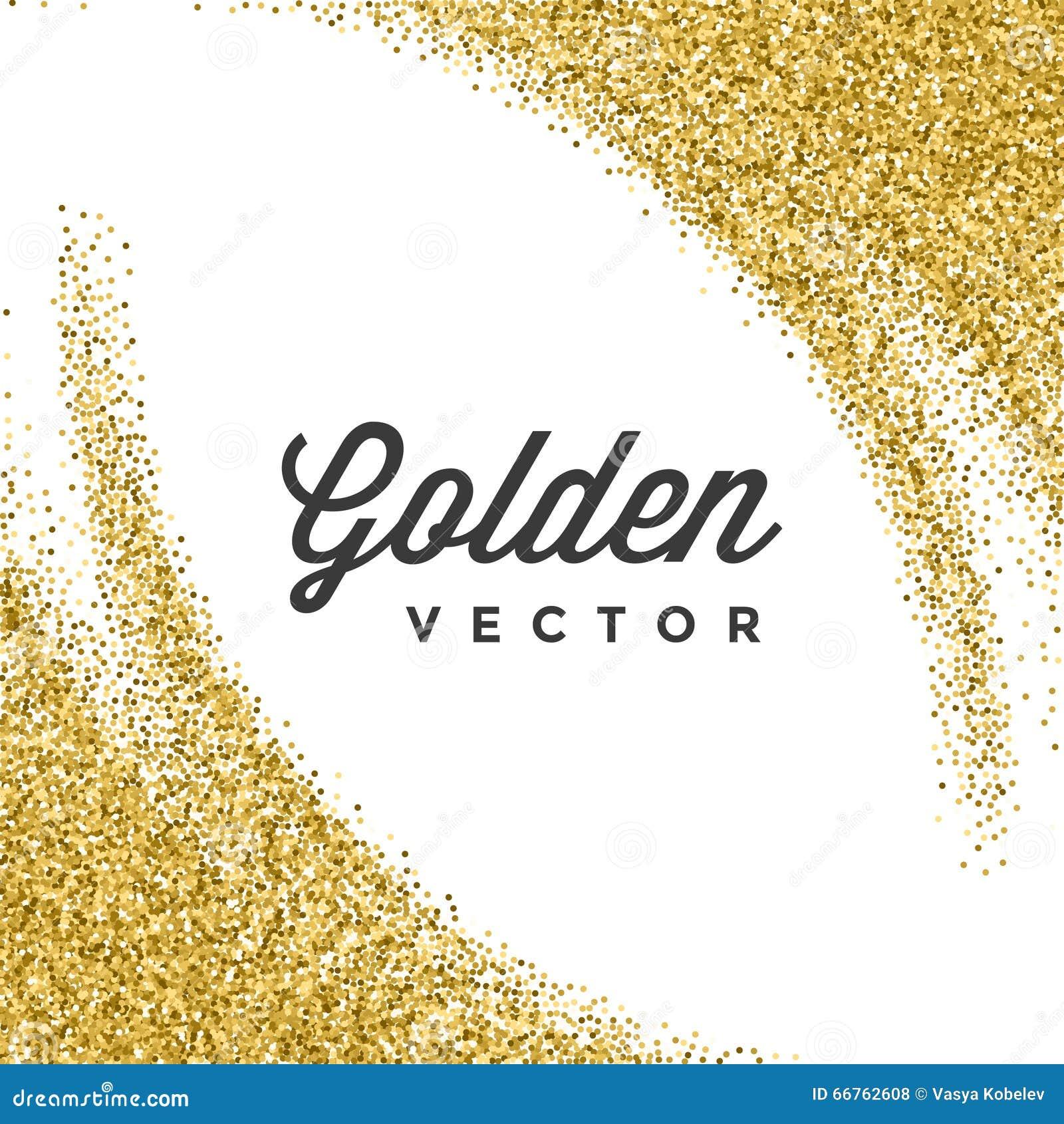 Gold glitter sparkles bright confetti vector background stock gold glitter sparkles bright confetti vector background stopboris Images