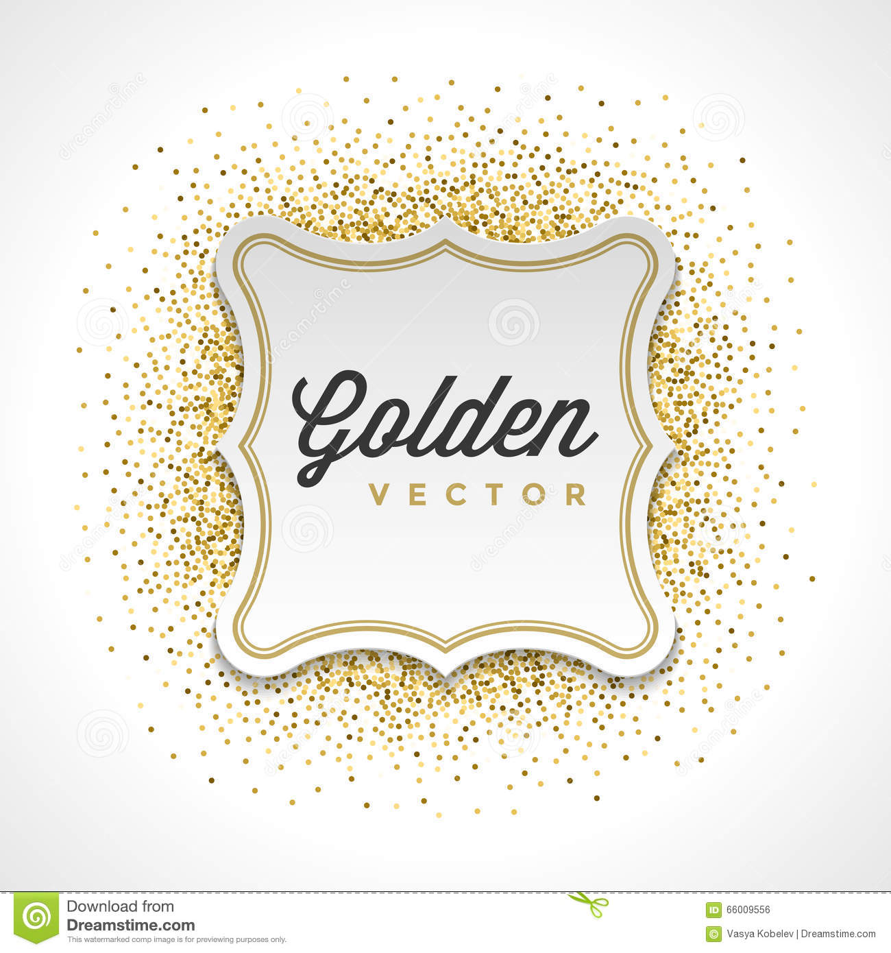 Luxury Gold Glitter Sparkles Frame Stock Photo - Image of card ...