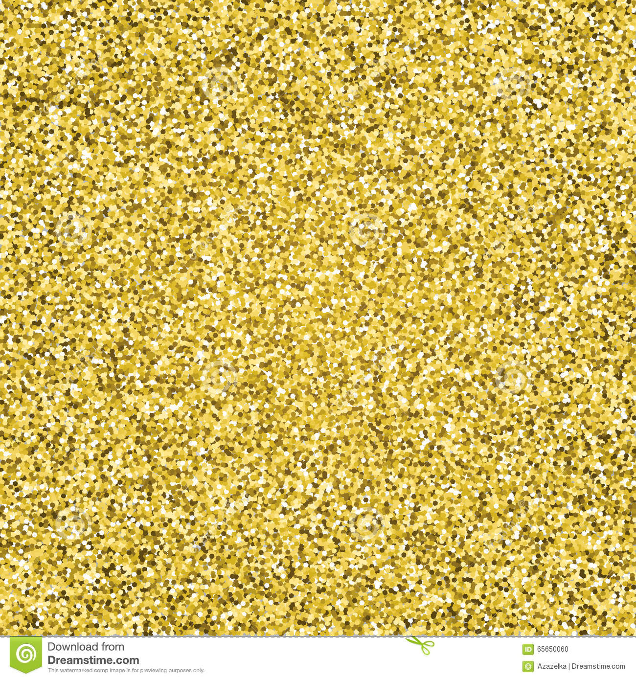 Glitter Gold: Gold Glitter Sparkling Pattern. Decorative Seamless