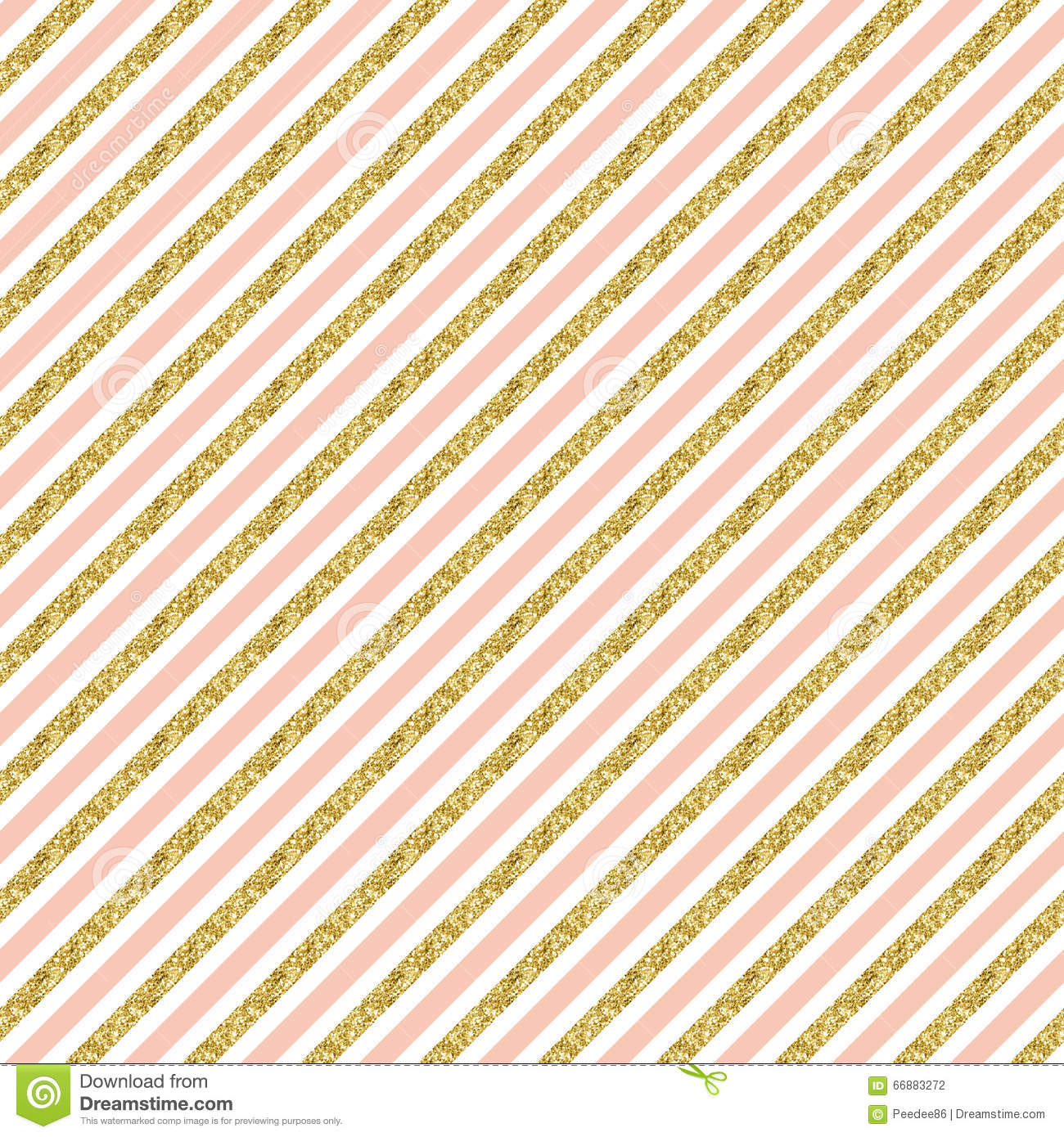 Cute Scrapbook Paper Patterns Gold Glitter Stripes. ...