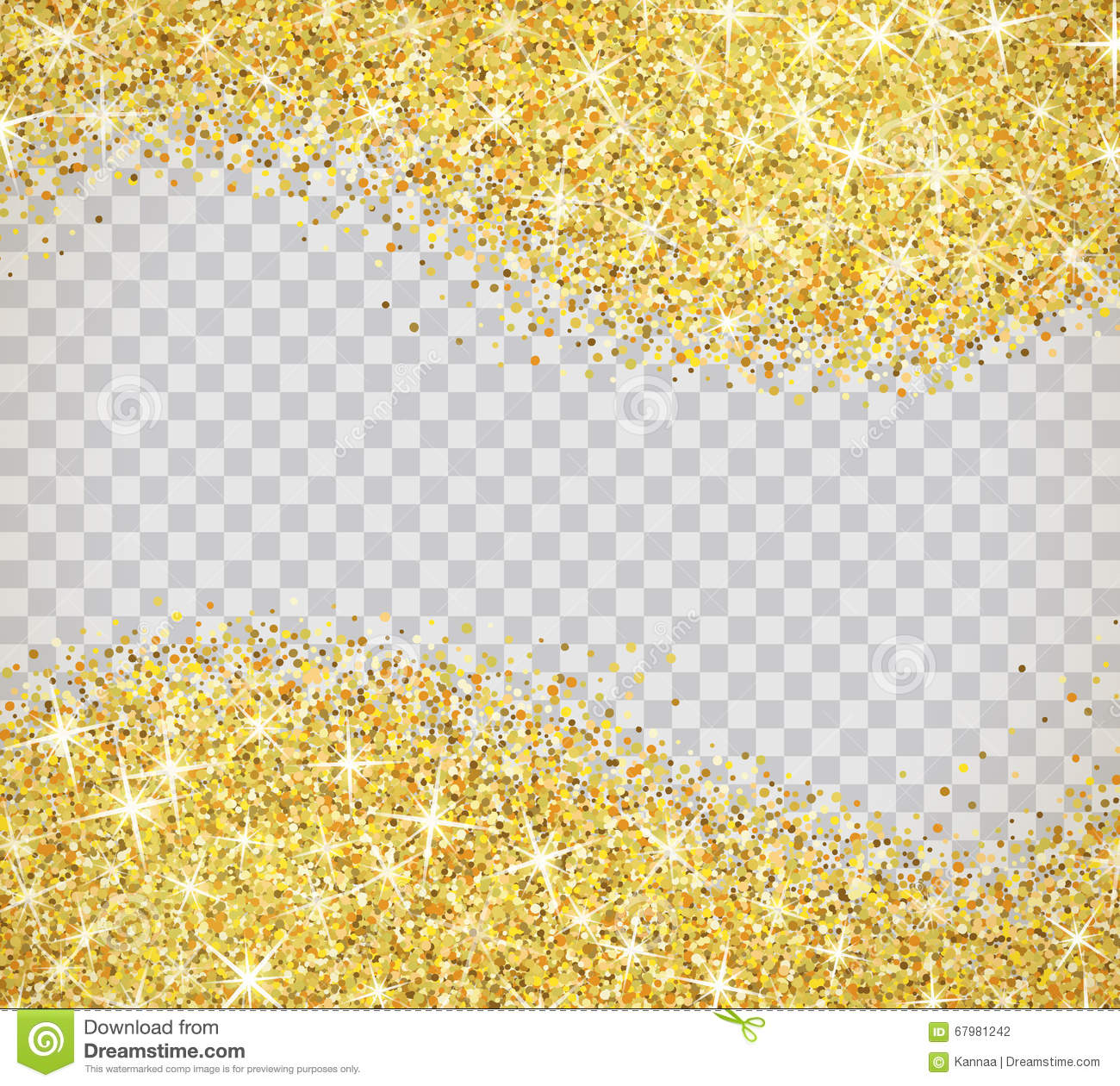 Gold glitter bright vector transparent background golden sparkles - Gold Glitter Texture With Sparkles Gold Glitter Texture Isolated On Transparent Background Vector Illustration For Golden