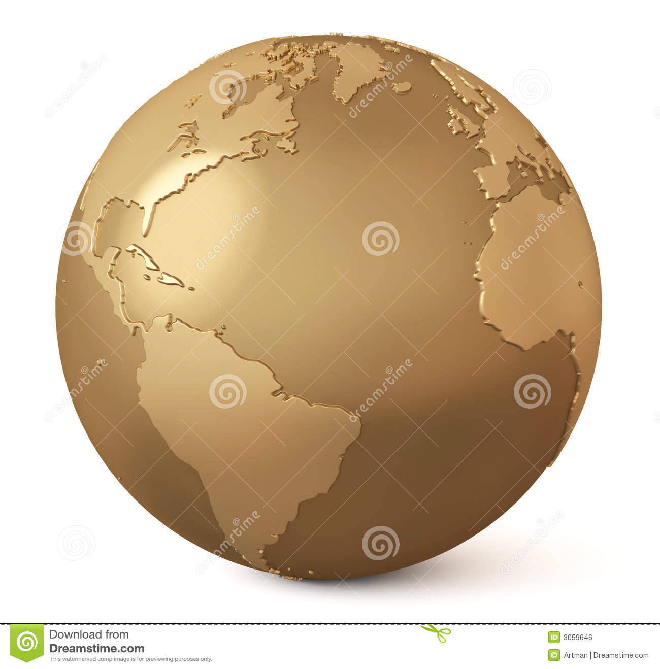 Gold globe / Earth model