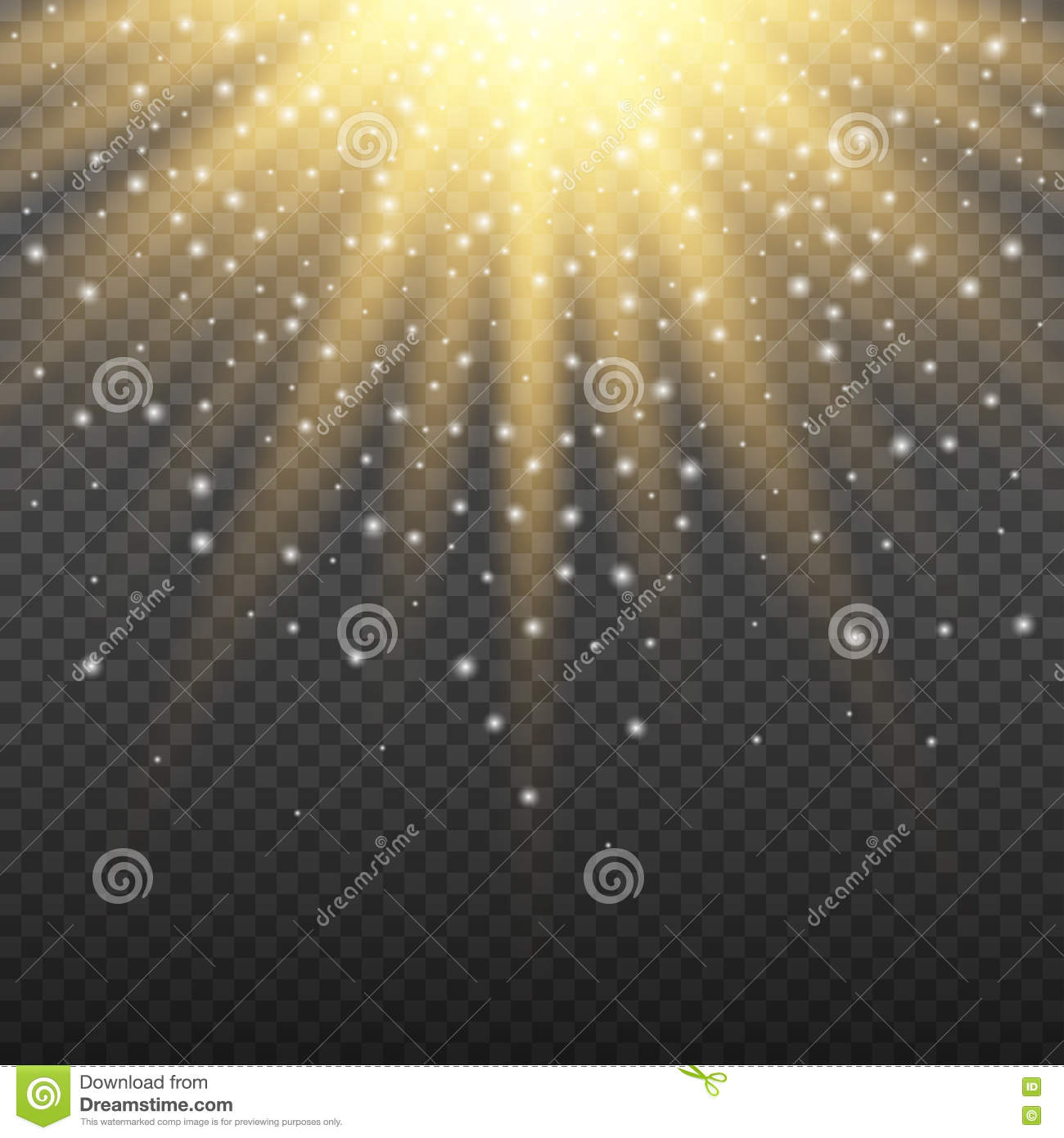 Gold glitter bright vector transparent background golden sparkles - Gold Glowing Light Burst Explosion On Transparent Background Bright Flare Effect Decoration With Ray Sparkles