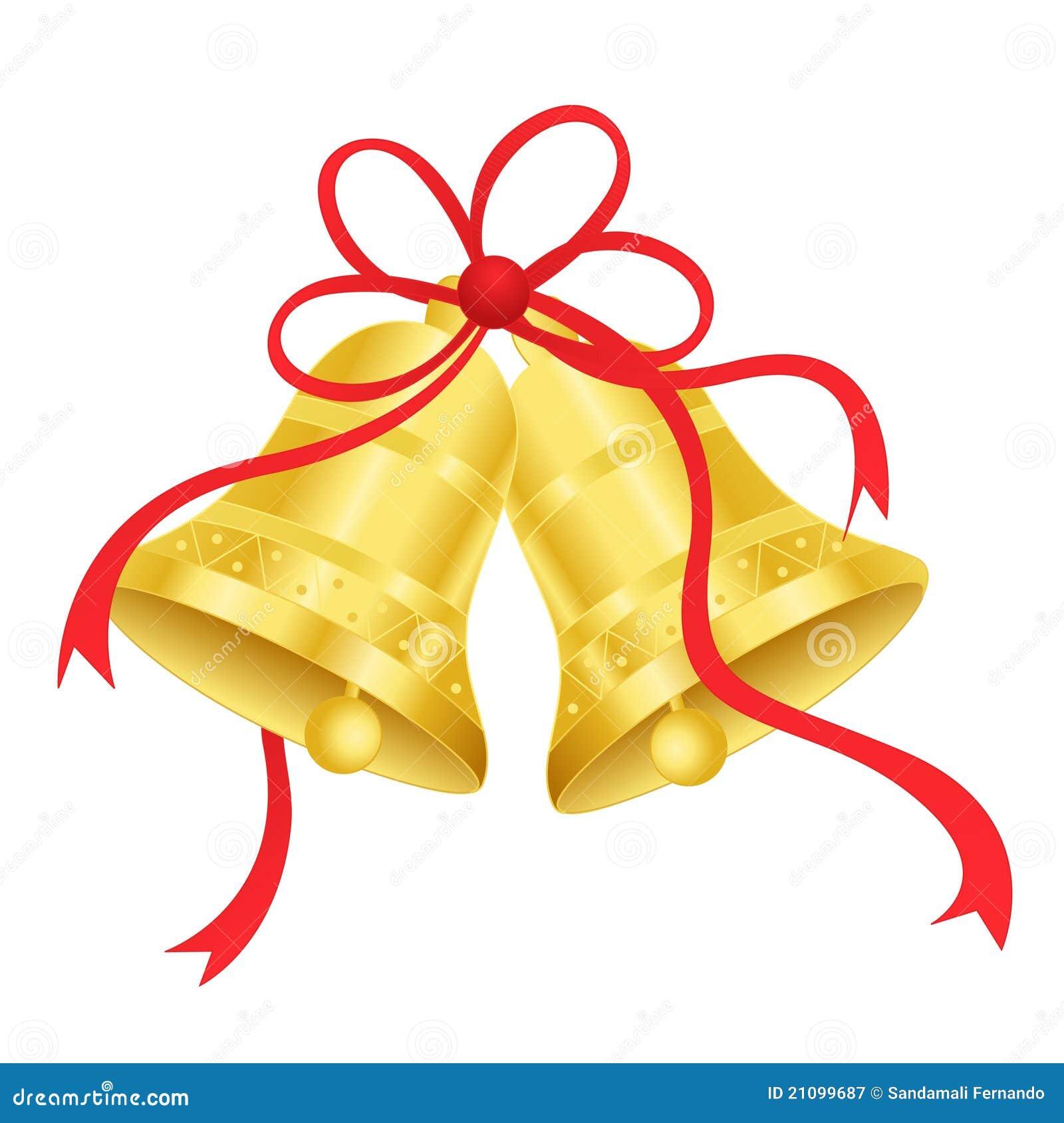 Gold / golden bells stock vector. Image of festive, angel ...