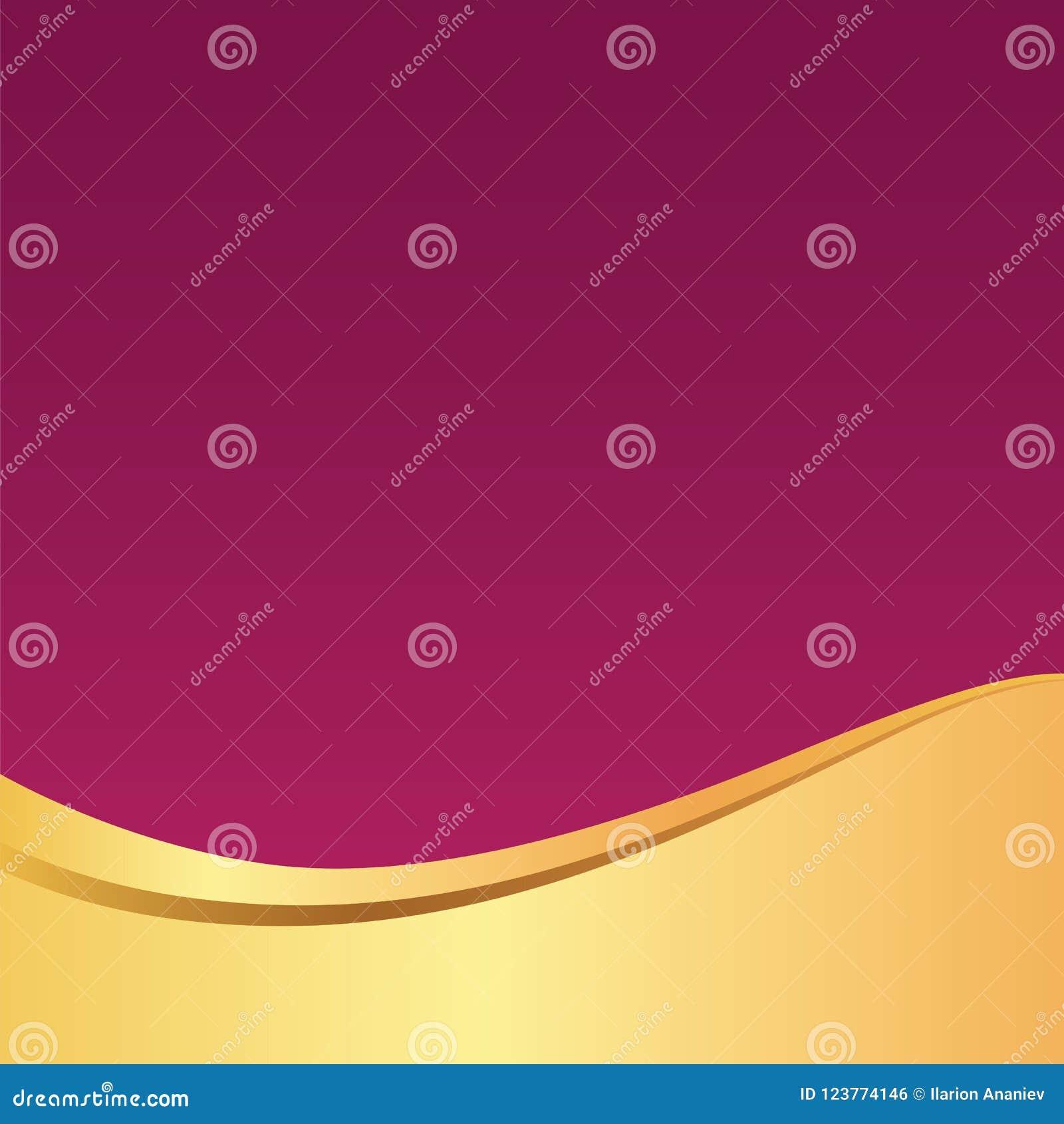 gold golden wave elegant violet background pattern for card