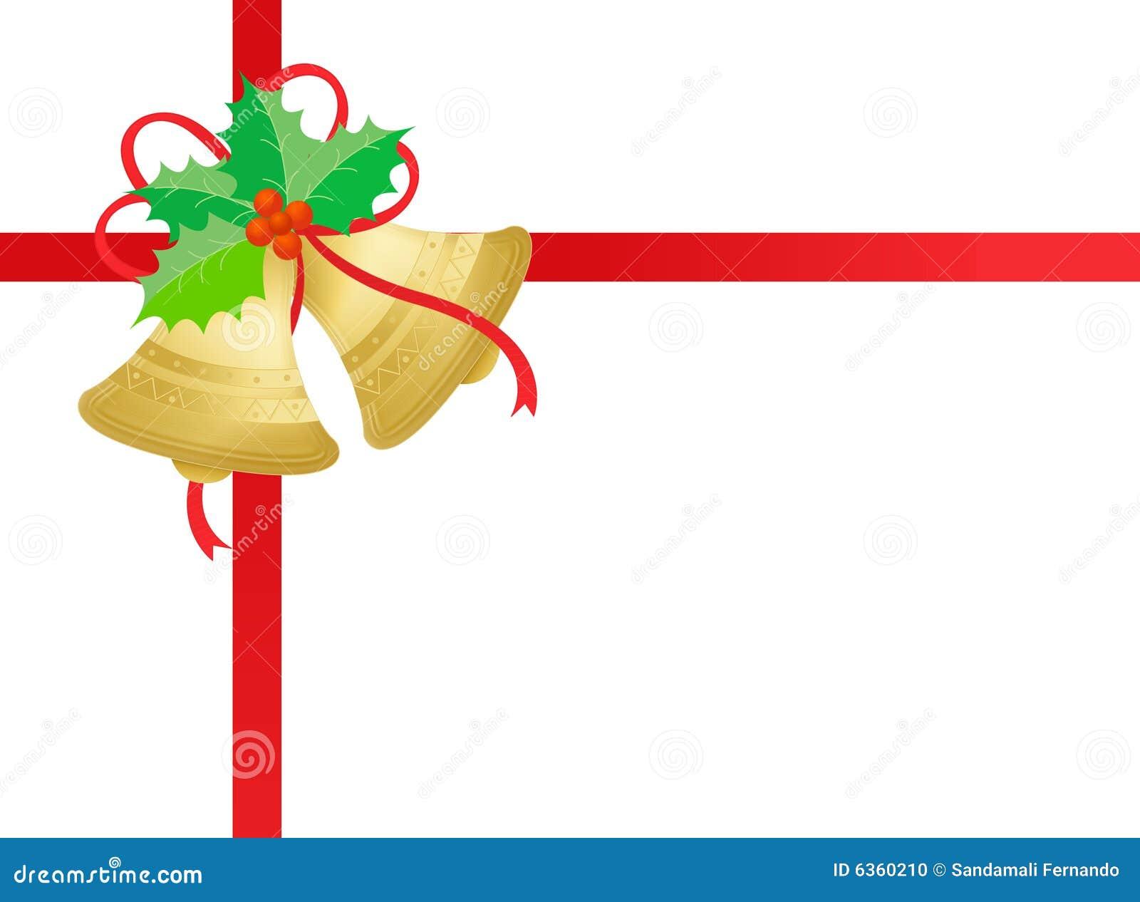 Gold/goldene Weihnachtsglocken Stockfoto - Bild: 6360210