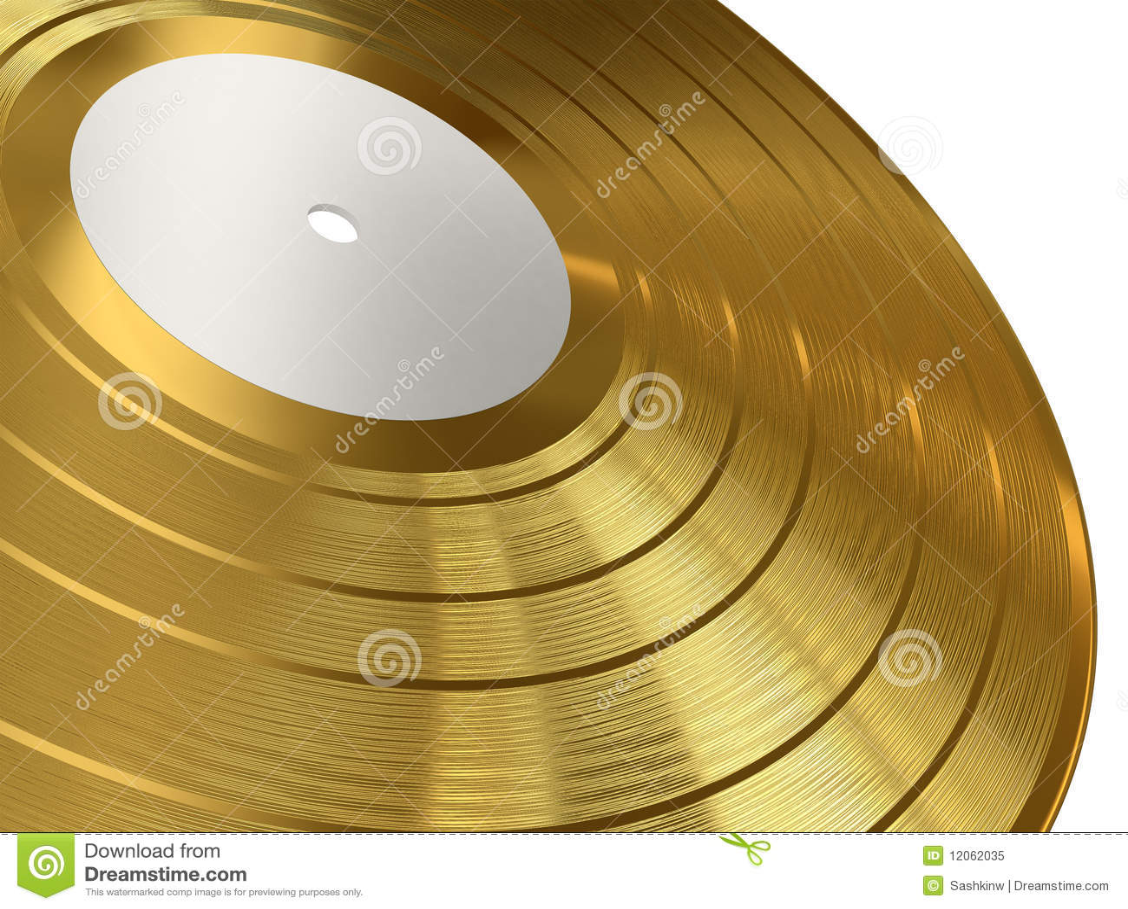 Gold Gramophone Record Royalty Free Stock Photo Image