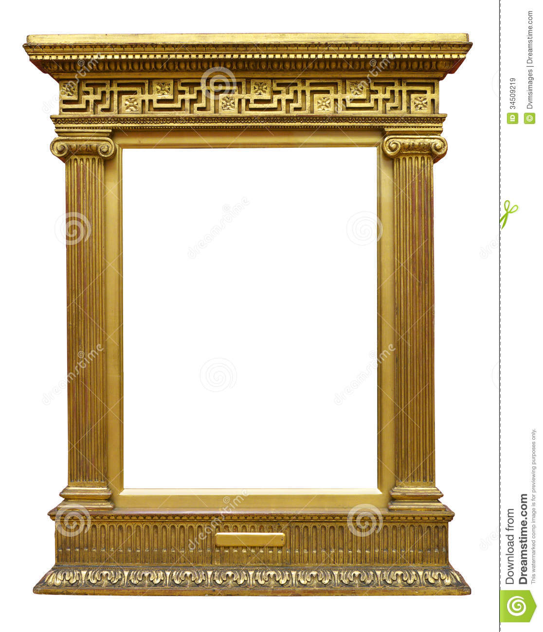 Old gold greek frame stock image image of symmetry for Architecture antique