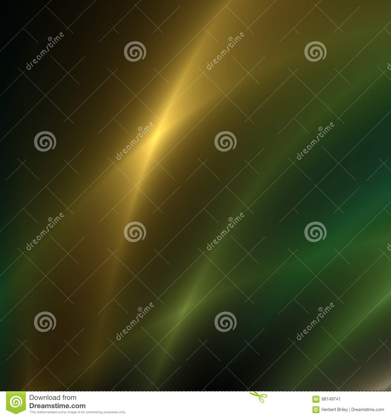 Gold and Green streaks of light